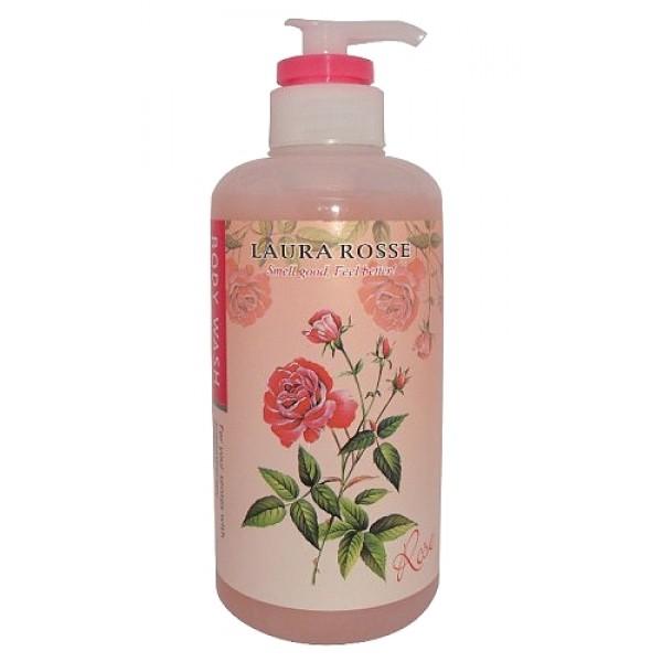 """жидкое мыло для тела """"ароматерапия - роза"""" laura rosse body wash roseBody Wash Rose. Жидкое мыло для тела """"Ароматерапия - Роза"""" содержит оливковое масло и масло дерева Ши. Прекрасно очищает кожу от любых загрязнений, делая ее гладкой и шелковистой. Предназначено для ежедневного ухода за кожей.<br><br>Роза издавна применяется в ароматерапии, ее аромат нежно успокаивает, способствуя достижению внутренней гармонии и душевного равновесия.<br><br>Способ применения: нанесите на мочалку соответствующее количество средства, разотрите до появления пены. Нанесите на тело массажными движениями, затем смойте.<br><br>Меры предосторожности: в случае несовместимости с вашей кожей прекратите использование. Не используйте при наличии ран, опухолей, экземы и других аномалий на коже. Если во время или после применения появляется покраснение, зуд, раздражение и пр., прекратите использование и обратитесь к дерматологу. Если продолжить применение, возможно появление осложнений. При попадании в глаза немедленно промойте водой. Держите в местах, недоступных для детей.<br><br>Состав: вода, лаурит сульфат натрия, кокамид DEA, кокамидопропилбетаин, поликвартениум-7, динатрия лаурит сульфосукцинат, динатрия кокоамфодиацетат, розовая вода, PEG-20, лимонная кислота, поликвартениум-10, стеарат гликоль, бензофенон-5, экстракт ядра грецкого ореха, гиалуронат натрия, EDTA, метилхлороизотиазолинон, метилизотиазолинон, отдушка, краситель 14700, краситель 15510.<br><br>500 мл.<br>"""