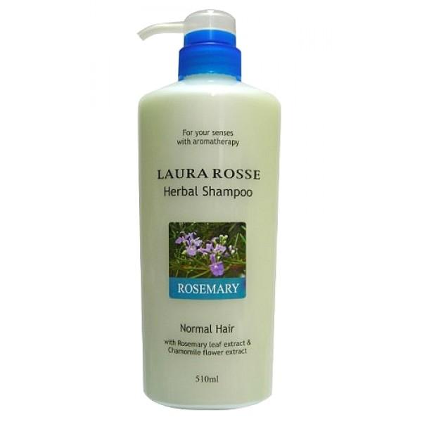 """шампунь """"розмарин"""" (для нормальных волос) laura rosse herbal shampoo rosemaryHerbal Shampoo Rosemary. Растительный шампунь """"Розмарин"""" (для нормальных волос) - душистый растительный шампунь прекрасно очищает волосы, насыщает их влагой, делает мягкими и послушными. Богатый состав средства, включающий растительные и питательные компоненты, поможет восстановить естественную жизненную силу Ваших волос.<br><br>Шампунь содержит экстракты ромашки, розмарина, шалфея, лаванды, а также гидролизированный шелк, который увлажняет, укрепляет и защищает волосы.<br><br>Подходит для нормальных волос.<br>Обладает приятным ароматом розмарина.<br><br>Способ применения: Нанесите на влажные волосы. Взбейте в пену и помассируйте&amp;nbsp;волосы и кожу головы, затем тщательно смойте.<br><br>Меры предосторожности: в случае несовместимости с вашей кожей прекратите использование. Не используйте при наличии ран, опухолей, экземы и других аномалий на коже. Если во время или после применения появляется покраснение, зуд, раздражение и пр., прекратите использование и обратитесь к дерматологу. Если продолжить применение, возможно появление осложнений. При попадании в глаза немедленно промойте водой. Держите в местах, недоступных для детей.<br><br>Состав: вода, лаурит сульфат натрия, аммония лаурил сульфат, гликоль стеарат, кокамид DEA, кокамидпропил бетаин, кокамид МEA, экстракт листьев розмарина, экстракт листьев шалфея, экстракт цветков/листьев лаванды, экстракт цветков ромашки, пантенол,<br>ниацинамид, диметикон, поликватерниум-39, гидролизированный шелк, гидролизированный кератин, поликватерниум-7, поликватерниум-10, лаурет-23, лаурет-3, гуаровая камедь, бензофенон-5, натрия ксиленсульфонат, натрия хлорид, лимонная кислота, натрия цитрат, EDTA-2Na, краситель желтый 5, зеленый 3, отдушка.<br><br>510 мл.<br>"""