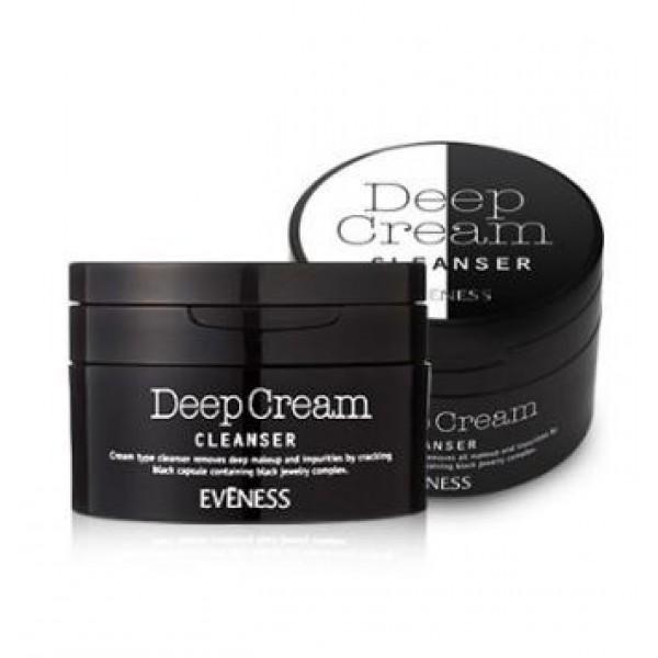 крем очищающий антивозрастной lioele eveness premium deep cream cleanserEveness Premium Deep Cream Cleanser. Крем очищающий антивозрастной<br><br>Глубокое и в то же время бережное очищение кожи обеспечивает крем. Имеет сбалансированный pH (5.5-6.5) и подходит для любого типа кожи. Помогает удалить макияж (в том числе и водостойкий), поверхностные загрязнения, а также очищает поры, способствует отшелушиванию ороговевших частиц эпидермиса, выводит токсины.&amp;nbsp;<br><br>Крем поможет справиться с черными точками, расширенными порами, нездоровым тусклым цветом лица, отечностью.<br><br>В составе крема вулканическая лава, древесный уголь, коллоидная глина, минеральная пудра из сапфира, турмалина, жемчуга и лунного камня, растительные экстракты и эфирные масла, а также комплекс аминокислот, аллантоин, пантенол, витамин E.<br><br>Вулканическая лава содержит большое количество минеральных веществ и микроэлементов. Их активные компоненты воздействуют на рецепторы кожи, на что реагируют все физиологические системы в организме человека. Крем с вулканической лавой глубоко очищает кожу от ороговевших клеток и загрязнений, выравнивает ее рельеф, способствует выведению токсинов и шлаков, улучшает микроциркуляцию и обмен веществ, тканевое и клеточное питание, повышает иммунитет кожи. В результате – гладкая, эластичная и упругая кожа.<br><br>Коллоидная глина – клееобразная глина, образовавшаяся в результате разложения вулканической золы, состоящая в основном из минералов. Эта глина обладает хорошими абсорбционными свойствами, обеспечивает быстрое удаление избытка кожного сала, а также оказывает легкое отбеливающее действие.<br><br>Древесный уголь – оказывает великолепное абсорбирующее действие, благодаря чему он глубоко, но мягко очищает поверхностные загрязнения, отшелушивает ороговевшие клетки, а также эффективно очищает поры кожи. Кроме того, уголь замедляет процессы окисления клеток, благодаря чему замедляется старение кожи. Антиоксидантые свойства помогают защитить кожу от вр