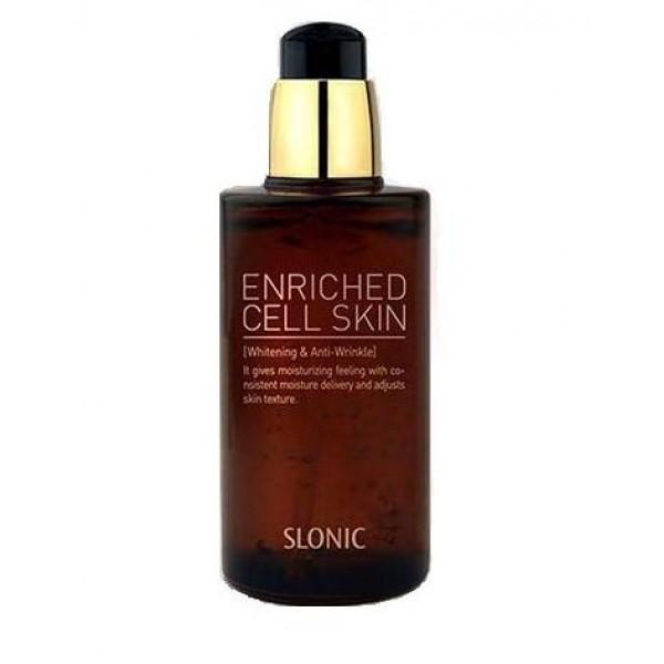 сыворотка антивозрастная lioele slonic enriched cell skinSlonic Enriched Cell Skin. Сыворотка антивозрастная<br><br>Косметологи не перестают создавать новые средства, которые помогли бы вернуть коже лица молодость, стереть морщины и годы. Особые надежды возлагаются на стволовые клетки с их высочайшим регенеративным потенциалом.<br><br>Стволовые клетки человека, к сожалению, стареют и теряют способность поддерживать работоспособность тканей и органов. Однако, экстракты растительных стволовых клеток помогают откорректировать некоторые процессы, сопровождающие старение: улучшают клеточный метаболизм, очищают клетки от токсинов, восстанавливают их поврежденные компоненты, обеспечивают адекватную реакцию на стрессовые ситуации.<br><br>В составе средств линии Slonic Enriched Cell используются каллусные культуры растительных экстрактов. Эти стволовые клетки получают биотехнологическим путем: на растениях делаются специальные надрезы, и в месте повреждения клетки начинают активно делиться, образуя бесцветную клеточную массу – каллус. Эта ткань защищает место ранения, может накапливать питательные вещества для анатомической регенерации.<br><br>Каллусные клетки различных растений на генетическом уровне восстанавливают уменьшающуюся с возрастом активность фибробластов, от которых зависит выработка коллагена и эластина. При регулярном применении косметики с каллусными культурами происходит уменьшение глубины морщин, повышается тонус кожи, она вновь становится упругой. Кроме того, растительные стволовые клетки повышают устойчивость клеток кожи к агрессивному воздействию окружающей среды, оказывают мощное антиоксидантное действие.<br><br>Сыворотка со стволовыми клетками глубоко увлажняет кожу, что особенно важно после умывания. Завершая процесс очищения кожи, это средство способствует отшелушиванию ороговевших клеток кожи и улучшает питание здоровых клеток. Благодаря использованию сыворотки кожа разглаживается, исчезают тусклость и шелушения. Кроме того, сыворотка&amp;nbsp;оказыв