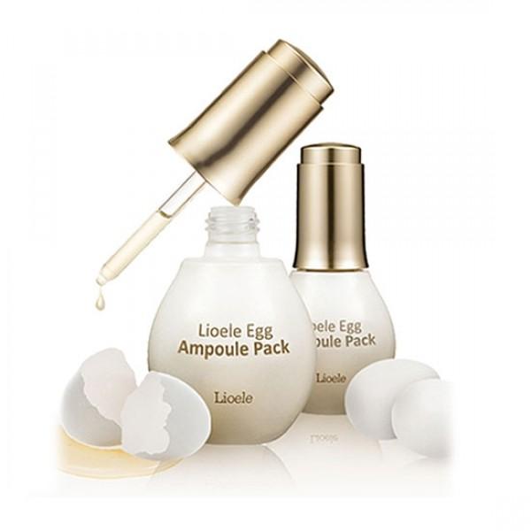 маска-сыворотка для лица яичная lioele lioele egg ampoule packМаска-сыворотка для лица яичная Lioele Egg Ampoule Pack создана на основе яичного белка, так же в состав входят: пептиды и коллаген. Она активно питает кожу, ведь яичный белок содержит множество ценных веществ. Он помогает эффективно бороться с множеством дефектов кожи. Его применение позволяет сузить и очистить поры, отбелить пигментные пятна, значительно уменьшить морщины, снять воспаление, устранить жирный блеск. Пептиды и коллаген оказывают мощный эффект подтяжки кожи, увеличивая ее тонус и эластичность. Маска хорошо увлажняет кожу и уменьшает оттеки.<br><br>Яичная лифтинг маска-сыворотка Lioele Egg Ampoule Pack оказывает выраженное подтягивающее, омолаживающее&amp;nbsp; действие. Она также хорошо увлажняет, успокаивает, питает и заживляет кожу.<br><br>Применяя маску вы получите более ровный тон кожи, более четкий овал лица, кожу наполненную энергией. Улучшается рельеф, уменьшаются оттеки, разглаживаются морщины. Заметно повышается тонус кожи. Маска придает коже гладкость и шелковистость, а также обладает хорошим очищающим и смягчающим действием. Стягивает поры, прекрасно устраняет жирный блеск. Успешно борется с проблемой акне.<br><br>Первые позитивные изменения можно заметить уже после первой процедуры. Придает коже сияющий, свежий и здоровый вид.<br><br>Применение:<br>Яичную лифтинг маску-сыворотку Lioele Egg Ampoule Pack используют после применения тонера или пилинга. Откройте флакон, повернув крышку направо. При закрытии крышки (поворот налево), ампула автоматически заполняется новой порцией средства. По консистенции маска больше похожа на сыворотку, имеет липкую текстуру, поэтому будьте осторожны, чтобы не разлить. Нанесите необходимое количество на подготовленную кожу лица и шеи.&amp;nbsp; Оставьте на время до полного высыхания! Смойте теплой водой. Маску можно использовать 1-2 раза в неделю. Средство подходит для любого типа кожи.<br><br>Вес г: 60.00000000