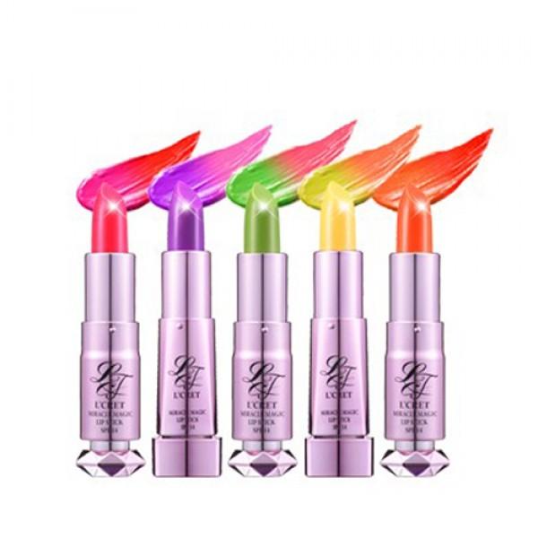 тинт для губ lioele lcret miracle magic lipstick spf 14 (white)Lcret Miracle Magic Lipstick SPF 14&amp;nbsp;(White). Тинт для губ<br><br>Инновационная помада, изменяющая цвет при нанесении...Обладает устойчивыми оттенками, которые сохраняются длительное время. растительные масла питают кожу, сохраняют увлажнение и придают глянцевый финиш. Имеют лёгкую, тающую текстуру. Солнцезащитный фактор SPF14 (White).<br><br>Универсальное средство 5 в 1:&amp;nbsp;<br><br><br>тинт &amp;nbsp;<br><br>бальзам &amp;nbsp;<br><br>помада &amp;nbsp;&amp;nbsp;<br><br>блеск&amp;nbsp;<br><br>защита от солнца<br><br><br>Активные элементы:<br><br>Масло ореха макадами: Это практически скорая помощь , моментально впитывается и устраняет раздражение и шелушение, помогает коже восстановить мягкость и нежность.<br><br>Масло оливы: смягчает, позволяет на долго сохранить её молодость и упругость.,,<br><br>Натуральное масло лаванды: выступает в качестве природного консерванта и антисептика, успокаивает чувствительную, склонную к раздражениям кожу. Также лаванда известна своим уникальным свойством регенерировать повреждённую и истончённую кожу.<br><br>Масло Ши: улучшает цвет кожи, уплотняет текстуру кожи, повышает тонус и упругость, способствует уменьшению глубины морщинок. Замедляет старение, применяется как противоотёчное и воспалительное средство.<br><br>Гидролизированный колаген: активный колаген максимально усваивающийся организмом. Это структурный белок, обеспечивающий эластичность кожи, а также обладающий ярко выраженными увлажняющими способностями. тпридаёт коже эластичность, повышает тургор, разглаживает мелкие морщинки. Обеспечивает мгновененый лифтинг-эффект.<br><br>НЕ содержит парабенов.<br><br>Тона:<br><br><br>#01 Sexy Red,<br><br>#02 Elegant Purple,<br><br>#03 Fresh Green,<br><br>#04 Exotic Yellow,<br><br>#05 Fanta Orange.<br><br><br>Вес: 2,5 г<br><br>Вес г: 2.50000000