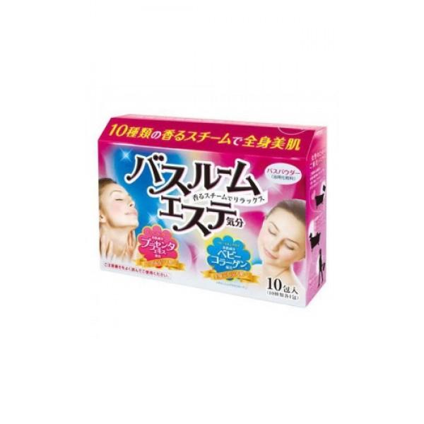 """соль для ванны с плацентой и коллагеном max steam beauty bath saltSteam Beauty Bath Salt. Соль для ванны с плацентой и коллагеном (10 ароматов) предназначена для принятия ванны.<br>Содержит экстракт плаценты и коллаген – два активных компонента для красоты и молодости Вашей кожи.<br>10 тщательно подобранных ароматов сделают время, проведенное в ванной, особенным. Ароматный пар и нежный цвет воды создаст атмосферу SPA – салона.<br><br>Соль на основе экстракта плаценты.<br>Плацента активизирует обновление клеток кожи, насыщает ее витаминами и минералами, в результате чего кожа становится упругой и эластичной.<br><br>5 ароматов для сияющей, подтянутой кожи:<br><br><br>""""Cладкий имбирь"""" (с экстрактом корня имбиря). Цвет воды – прозрачно-оранжевый<br><br>""""Роза"""" (с экстрактом дамасской розы). Цвет воды – прозрачно-розовый.<br><br>""""Cочный цитрус"""" (с маслом лайма). Цвет воды – прозрачно-зеленый.<br><br>""""Лесные ягоды"""" ( с экстрактом ежевики). Цвет воды – прозрачно-фиолетовый.<br><br>""""Тропические травы"""" (с экстрактом цветков гибискуса). Цвет воды – прозрачно-зеленый.<br><br><br><br>Состав: сульфат натрия, бикарбонат натрия, карбонат натрия, кремний, отдушка, декстрин, натрия гиалуронат, вода, BG, экстракт плаценты, растительные экстракты и масла, красители.<br><br>Соль на основе коллагена.<br>Cукцинил ателоколлаген, входящий в состав средства, делает кожу мягкой, упругой и эластичной.<br><br>5 ароматов для мягкой, нежной кожи:<br><br><br>""""Кремовое мыло"""" с трегалозой. Цвет воды – молочно-голубой.<br><br>""""Шелк"""" с экстрактом шелка. Цвет воды – молочно-оранжевый.<br><br>""""Хлопок"""" с экстрактом семян ванили. Цвет воды - молочно-желтый.<br><br>""""Нежность"""" с маточным молочком. Цвет воды – молочно–розовый.<br><br>""""Молоко"""" с лактоферрином коровьего молока. Цвет воды – молочно-белый.<br><br><br><br>Состав: сульфат натрия, бикарбонат натрия, карбонат натрия, диоксид титана, кремний, отдушка, декстрин, натрия гиалуронат,PEG-150, стеарет-13, натрия олеат, вода, сукцинил ателоколлаген, PEG-115"""