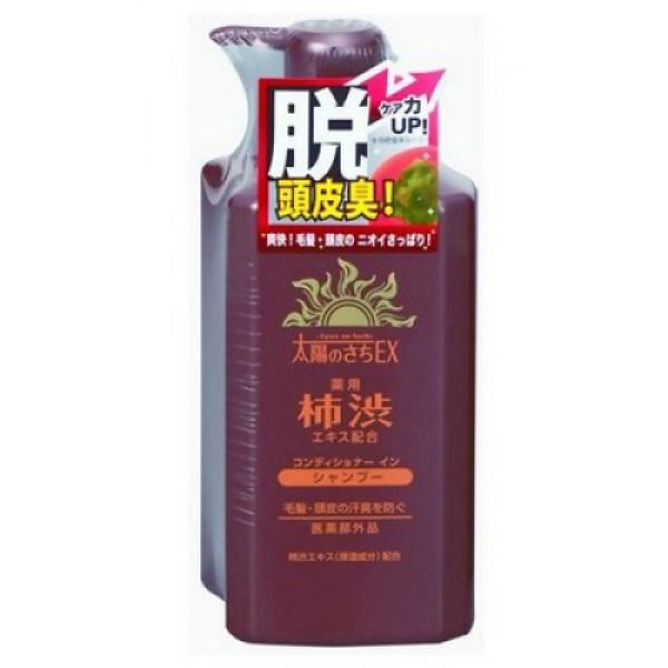 шампунь-кондиционер с экстрактом хурмы max taiyo no sachi shampoo