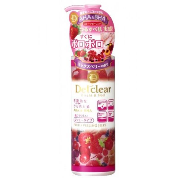 пилинг-гель с aha и bha с эффектом скатывания meishoku aha&amp;bha peeling jellyAHA&amp;amp;BHA Peeling Jelly. Очищающий пилинг-гель с AHA и BHA с эффектом сильного скатывания с ароматом ягод - кремообразный пилинг-гель слабой кислотности с ароматом ягод мягко очищает поры кожи от загрязнений, излишков кожного жира и ороговевших клеток эпидермиса, скопление которых приводит к тусклому цвету лица, становится причиной появления чёрных точек и заметных расширенных пор.<br><br>В составе три группы активных действующих компонентов:<br><br><br>&amp;nbsp;&amp;nbsp;&amp;nbsp; АНА (альфа-гидрооксикислоты) входят в состав таких фруктовых экстрактов, как экстракты апельсина, груши, ягод черники и малины, лимона, яблока, винограда известны своими очищающими, подтягивающими и сужающими поры, а также стимулирующими процессы регенерации и обновление клеток эпидермиса свойствами.<br><br>&amp;nbsp;&amp;nbsp;&amp;nbsp; ВНА (бета-гидрооксикислоты) входят в состав вытяжки из коры плакучей ивы, смягчают ороговевшие слои клеток эпидермиса (с повышенным содержанием меланина), облегчая и ускоряя их удаление.<br><br>&amp;nbsp;&amp;nbsp;&amp;nbsp; Апельсиновое масло мягкий очищающий компонент растительного происхождения. Действие пилинг-геля основано на сильном скатывании загрязнений круговыми массажными движениями и моментальном отшелушивании ороговевших клеток эпидермиса под действием альфа и бета-гидрооксикислот (AHA&amp;amp;BHA). Тусклая кожа заметно светлеет, становится гладкой, без загрязнённых расширенных пор и чёрных точек. Улучшает проникновение активных компонентов лосьона и других средств по уходу за кожей лица (молочка, крема и т. д. ).<br><br><br><br>Способ применения: Наносится после удаления макияжа перед умыванием на сухую кожу! Кончиками пальцев нанесите тонким слоем на желаемые участи кожи (с загрязнёнными порами). Начните скатывание массирующими круговыми движениями до тех пор, пока кончики пальцев не будут скользить по поверхности кожи. Смойте остатки пилинг-геля водой с 