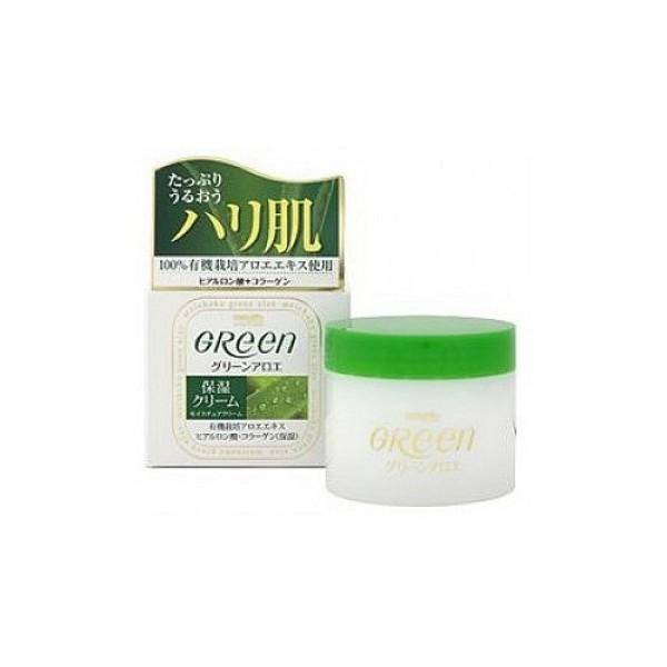 увлажняющий крем для сухой кожи лица meishoku green plus aloe moisture creamGreen Plus Aloe Moisture Cream. Увлажняющий крем для сухой кожи лица эффективно борется с морщинами и темными пятнами. Крем обеспечивает коже оптимальный уход и защиту от внешних воздействий. Содержит увлажняющие компоненты, которые позволяют коже выглядеть свежей, чистой, гладкой и эластичной.<br><br>Активный комплекс:<br><br><br>&amp;nbsp;&amp;nbsp;&amp;nbsp; Коллаген - борется с морщинами и темными пятнами, придает коже эластичность.<br><br>&amp;nbsp;&amp;nbsp;&amp;nbsp; Экстракт алоэ - обильно увлажняет кожу, предотвращая ее огрубление.<br><br>&amp;nbsp;&amp;nbsp;&amp;nbsp; Гиалуроновая кислота - надолго удерживает влагу, способствует поддержанию нормального водного баланса и регенерации клеток кожи.<br><br><br><br>Крем подходит для использования в качестве основы под макияж. Нанесенный перед сном, действует до следующего утра.<br><br>Способ применения: утром или вечером нанести на чистую кожу лица.<br><br>Меры предосторожности: не использовать при появлении покраснений, зуда, раздражения кожи. В случае возникновения аллергических реакций, прекратите использование средства и проконсультируйтесь с дерматологом.<br><br>Состав: вода, глицерин, ланолин, ацетат токоферол (витамин Е), гидролизованный коллаген, гиалуроновая кислота, экстракт лакричника, экстракт алоэ.<br><br>48 г.<br><br>Вес г: 48.00000000