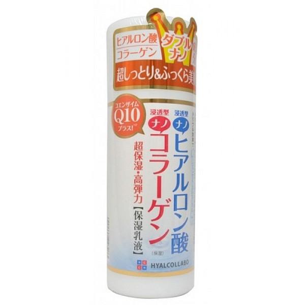 глубокоувлажняющее молочко с наноколлагеном meishoku hyalcollabo milky lotionHyalcollabo Milky Lotion. Глубокоувлажняющее молочко (с наноколлагеном и наногиалуроновой кислотой) глубоко увлажняет, активно подтягивает кожу, поддерживает оптимальный уровень влаги в клетках, придаёт коже упругость и эластичность.<br><br>Активные компоненты - наноколлаген и наногиалуроновая кислота в составе молочка обладают особыми увлажняющими свойствами. Они обеспечивают глубокое увлажнение и упругую сияющую кожу.<br>Размер частицы наногиалуроновой кислоты составляет 1/100 от размера молекулы обычной гиалуроновой кислоты. Наногиалуроновая кислота интенсивно проникает в клетки кожи, глубоко увлажняя ее.<br>Размер частицы наноколлагена составляет 1/30 от размера молекулы обычного коллагена. Наноколлаген придаёт коже упругость и эластичность.<br>Коже жизненно необходимы оба компонента. Именно в таком двойном сочетании они глубоко увлажняют и активно подтягивают кожу, великолепно дополняя друг друга.<br><br>Экстракт коры белой ивы позволяет влаге более глубоко проникать в клетки кожи, активизирует кровообращение, улучшая снабжение кожи кислородом.<br>Молочко не содержит искусственных красителей, отдушек, имеет слабую кислотность.<br><br>Способ применения: рекомендуется применять после использования лосьона данной серии. Нанесите необходимое количество средства на кожу лица ватным диском или кончиками пальцев и бережно распределите.<br><br>Меры предосторожности: не использовать при появлении покраснений, зуда, раздражения кожи. В случае возникновения аллергических реакций, прекратите использование средства и проконсультируйтесь с дерматологом.<br><br>Состав: вода, глицерин, BG, минеральные масла, С6-12, гидролизат гиалуроновой кислоты, гидролизованный коллаген, экстракт коры ивы, коэнзим Q10, BG, SE, пчелиный воск, ксантановая кислота, полисорбат 60, цетанол, фосфат - 5, карбомер, оксибензон - 4, токоферол, метилпарабен, пропилпарабен.<br>145 мл<br>