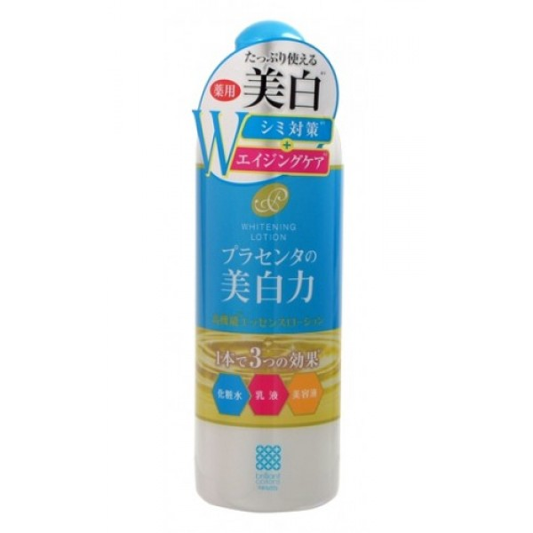 лосьон-молочко с экстрактом плаценты meishoku placenta whitening lotion milkPlacenta Whitening Lotion Milk. Лосьон-молочко с экстрактом плаценты (с отбеливающим эффектом) - Антивозрастное средство! Предупреждает появление пигментных пятен!<br>Увлажняет и отбеливает кожу, придавая ей здоровый и сияющий вид!<br>Сила отбеливания - в плаценте!<br>Совмещая действие лосьона и молочка, средство глубоко увлажняет, поддерживает оптимальный уровень влаги в клетках кожи, придаёт ей упругость и эластичность. <br><br>Активные компоненты в составе средства обладают увлажняющими, восстанавливающими и отбеливающими свойствами:<br><br><br>Экстракт плаценты регулирует образование меланина в клетках кожи, предупреждая тем самым появление пигментных пятен и веснушек. Предотвращает сухость, увлажняет. Кожа становится более здоровой и сияющей.<br><br>Коллаген увлажняет, предупреждает появление морщинок.<br><br>Экстракты перловой крупы и шелковицы - увлажняющие растительные экстракты, обладают отбеливающими свойствами.<br><br><br>В составе средства используется экстракт плаценты высокой очистки и только собственного производства.<br><br>Способ применения: нанесите на очищенную кожу лица необходимое количество средства ватным диском или кончиками пальцев и равномерно распределите.<br><br>Состав: вода, экстракт плаценты-1, глицирризинат дикалия, коллаген, трипептид F, экстракт перловой крупы, шелковица, DL-PCANa (р-р), DL-яблочная кислота, фосфолипиды из соевых бобов, масло рисовых отрубей, сфинголипиды из рисовых отрубей, насыщенный глицерин, BG, DPG, этанол, триметилглицин, глицерил триэтилгексановой кислоты, метилфенилполисилоксан, декаглицерила миристат, регулятор вязкости, регулятор уровня pH, EDTA-2Na, оксипролин, глицерин, полиглицерил олеат, метакрилоилоксиэтил фосфорилколин, бутил метакрилат (р-р сополимера), три (каприл/каприновая кислота) глицерил, феноксиэтанол, парабен, парфюмерная отдушка.<br><br>Меры предосторожности: не использовать при появлении покраснений, зуда, раздражен