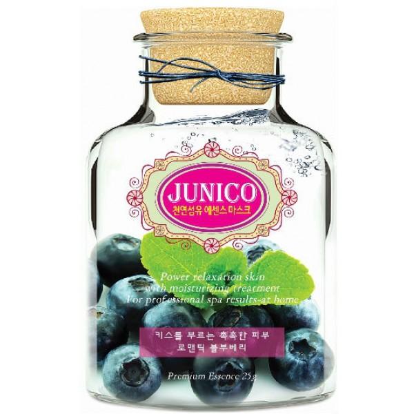 маска тканевая c экстрактом черники mijin junico blueberry essence maskJunico Blueberry Essence Mask. Маска тканевая c экстрактом черники повышает сниженный уровень коллагена и разглаживает кожу. Обладает себорегулирующими и легкими вяжущими свойствами. Успокаивает и восстанавливает повреждённую и воспаленную кожу лица. Витамин С, содержащийся в экстракте голубики,&amp;nbsp; увлажняет и очищает кожу, страдающую из-за различных загрязнений окружающей среды, но и сужает поры, придавая ей эластичность.<br><br>Способ применения: Поместите маску на очищеное лицо обеспечив хороший контакт с&amp;nbsp; кожей лица по всей площади нанесения. Снимите через 20 минут. Оставшуюся на лице эссенцию аккуратно разгладьте пальцами по косметическим линиям для лучшего впитывания в кожу.&amp;nbsp;&amp;nbsp; <br><br>Объем: 25гр<br><br>Дата изготовления&amp;nbsp; (срок годности) указана на&amp;nbsp; упаковке<br><br>Вес г: 25.00000000