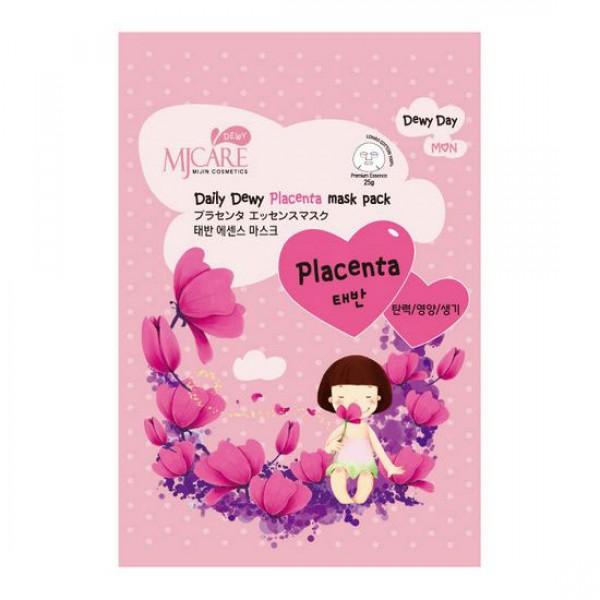 маска тканевая с плацентой mijin mj care daily dewy placenta mask packMJ Care Daily Dewy Placenta mask pack. Маска тканевая с плацентой оздаравливает кожу, легко впитывается, обладает успокаиващим свойством. Восстанавливает поврежденные клетки и делает кожу мягкой, упругой, хорошо увлажненной.<br>Для всех типов кожи, для уставшей увядающей кожи.<br><br>Способ применения: Поместите маску на очищеное лицо обеспечив хороший контакт с&amp;nbsp; кожей лица по всей площади нанесения. Снимите через 10-15 минут. Оставшуюся на лице эссенцию аккуратно разгладьте пальцами по косметическим линиям для лучшего впитывания в кожу.&amp;nbsp;&amp;nbsp; <br><br>Объем: 25гр<br><br>Дата изготовления&amp;nbsp; (срок годности) указана на&amp;nbsp; упаковке<br><br>Вес г: 25.00000000