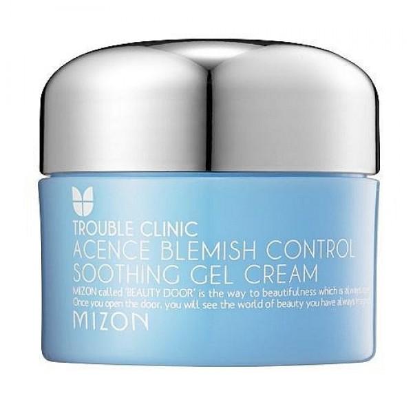 крем-гель для жирной и проблемной кожи mizon acence blemish control soothing gel creamAcence Blemish Control Soothing Gel Cream. Крем-гель для жирной и проблемной кожи<br><br>Крем-гель для тех, кого беспокоят прыщи, покраснения, раздражения, воспаления, а также расширенные поры.<br><br>&amp;nbsp;<br><br>Крем с легкой гелевой текстурой нежно ухаживает за проблемной кожей: увлажняет и успокаивает её и освежает.<br><br>&amp;nbsp;<br><br>Активные компоненты крема создают невидимую защиту для кожи оберегают её от проникновения бактерий, оказывают противовоспалительное действие.<br><br>&amp;nbsp;<br><br>Крем регулирует гидро-липидный баланс, увлажняет, усиливает регенерацию тканей, осветляет кожу после устранения воспалений.<br><br>&amp;nbsp;<br><br>Легкая безмаслянная текстура крем-геля не забивает поры, легко наносится и быстро впитывается, поэтому подходит и для жирной, склонной к воспалениям, кожи.<br><br>&amp;nbsp;<br><br>Регулярное применение крема, а также других средств из серии Acence позволяет добиться видимого и стойкого результата воспаления уменьшаются и предотвращаются, поры кожи становятся чистыми и суженными, покраснения и шрамы после акне осветляются и разглаживаются. Ваша кожа сияет чистотой и здоровьем!<br><br>&amp;nbsp;<br><br>Активные компоненты: бета-глюкан, трегалоза, лецитин, гидролизированный экстензин, гиалуроновая кислота, экстракты плюща, лимона, сосны, папайи, малины, бамбука, розы, березовый сок.<br><br>&amp;nbsp;<br><br>Способ применения: нанести небольшое количество крема на очищенную кожу лица.<br><br>&amp;nbsp;<br><br>Объём: 50 мл.<br>