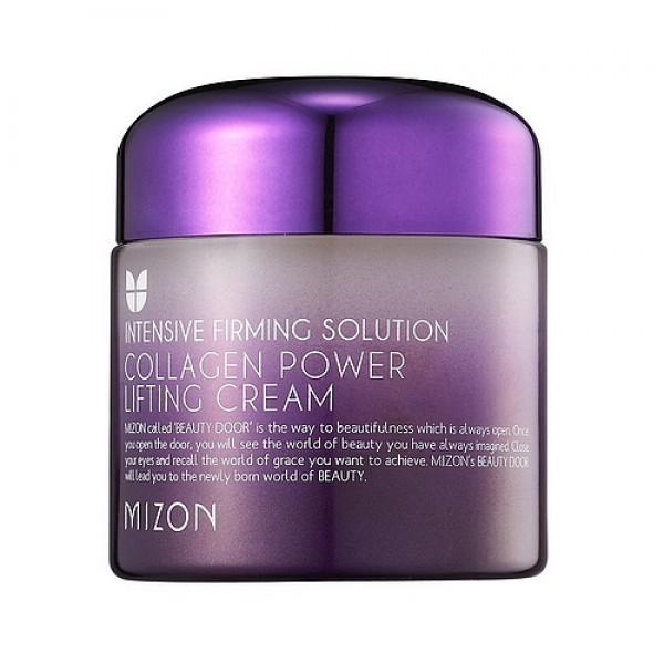 крем лифтинг коллагеновыйCollagen Power Lifting Cream. Крем лифтинг коллагеновый<br><br>Увлажняющий крем с антивозрастным эффектом содержит высокую концентрацию коллагена - 75%.<br><br>Дарит вашей коже глубокое увлажнение, удерживая влагу долгое время, восстанавливает клетки кожи, возвращает коже белок который служит строительным материалом для синтеза нового коллагена.<br><br>&amp;nbsp;<br><br>Лицо приобретает свежесть и выглядит гораздо моложе. Кожа становится ухоженной, увлажненной и сияет красотой. Активные компоненты крема насыщают кожу витаминами, минералами, полезными аминокислотами, тонизирует кожу и защищает от негативного воздействия окружающей среды. Крем имеет лёгкую текстуру, великолепно впитывается, не оставляет жирный блеск и липкость. В креме не содержатся парабены и этанол.<br><br>&amp;nbsp;<br><br>Крем оказывает ярко выраженный эффект лифтинга, благодаря чему подтягивается овал лица, а также крем минимизирует морщины и препятствует появлению новых, подтягивает кожу и улучшает рельеф лица. При регулярном применении морщины сокращаются, а кожа становится более упругой и эластичной, замедляется процесс старения и кожа становится шелковистой и нежной.<br><br>&amp;nbsp;<br><br>Экстракты растений, гидролизированный экстензин, фитокератин, аденозин, гидролизированный коллаген, меди трипептид-1, гиалуроновая кислота эффективно борются с возрастными изменениями кожи.<br><br>&amp;nbsp;<br><br>Крем очень быстро впитывается и придает лицу естественное сияние.<br><br>&amp;nbsp;<br><br>Подходит для любого типа кожи, особенно сухой и возрастной.<br><br>&amp;nbsp;<br><br>Применение: Два раза в день ( утром и/или вечером) на чистое лицо или после тонера или эмульсии. Рекомендуется для ежедневного применения.Максимальный эффект достигается при использовании с другими продуктами коллагеновой серии от Mizon.<br><br>&amp;nbsp;<br><br>Объем: 75 мл.<br>