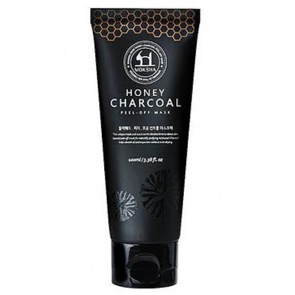 маска-пленка для лица labiotte moksha honey charcoal peel off maskMoksha Honey Charcoal Peel Off Mask.&amp;nbsp;Маска-пленка для лица<br><br>Маска-пленка содержит мед, для снятия воспалений и древесный уголь - который очищает поры, абсорбирует загрязнения, сужает поры.<br><br>Предназначена для очищения жирной и комбинированной кожи от черных точек, уменьшения пор, вырвнивания цвета лица.<br><br>Делает кожу более гладкой и ровной.<br><br>Способ применения: нанести необходимое количество средства на все лицо или Т-зону, избегая областей губ и вокруг глаз. Дождаться, когда маска застынет и снять получившуюся пленку.<br><br>Объем: 100 мл.<br>