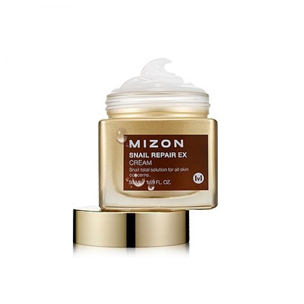 крем для лица с экстрактом улитки  mizon snail repair ex cream