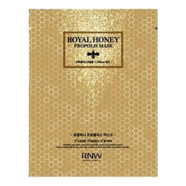 маска тканевая с экстрактом меда и прополисом milatte rnw royal honey propolis maskRnw Royal Honey Propolis Mask. Маска тканевая с экстрактом меда и прополисом<br><br>Для комплексного экспресс-ухода за кожей лица. Пропитана концентрированной эссенцией, в составе которой экстракты прополиса, меда и маточное молочко. Благодаря этим компонентам, маска оказывает питательное, увлажняющее, смягчающее, а также&amp;nbsp; мощное оздоравливающее действие, обеспечивает надежную защиту от вредного воздействия неблагоприятных факторов.<br><br>Продукты пчеловодства обладают антибактериальными, противовоспалительными и ранозаживляющими свойствами, поэтому маска особенно рекомендуется для чувствительной и проблемной кожи, так как помогает успокоить раздражения, снимает покраснения, сухость и шелушения, ускоряет заживление акне.<br><br>Экстракт прополиса ускоряет обновление тканей и способствует более интенсивному проникновению полезных веществ в глубокие слои кожи, уменьшает проявление кожных высыпаний, выравнивает тон кожи, придает ей красивый и естественный цвет.<br><br>Экстракт мёда оказывает интенсивное питательное, действие, мгновенно увлажняет и смягчает кожу, повышает ее тонус и эластичность, разглаживает. Проникая через поры кожи в ее глубокие слои, мёд на клеточном уровне активизирует обменные процессы в тканях, препятствует преждевременному появлению морщин.<br><br>Маточное молочко улучшает клеточный метаболизм и кровообращение в коже, активизирует естественную самоочищение и восстановление кожи, возвращает ей упругость и эластичность, предупреждает появление возрастных морщин, обладает лифтинг-эффектом, а также повышает защитные свойства кожи и её устойчивость к неблагоприятному воздействию внешней среды (холод, жара, загрязненность воздуха и воды, воздействие радиации, возбудителей инфекций, токсинов, солей тяжелых металлов).<br><br>После использования RNW Royal Honey Propolis Mask исчезают сухость и шелушения, кожа становится мягкой, гладкой и упругой, а лицо обретает 