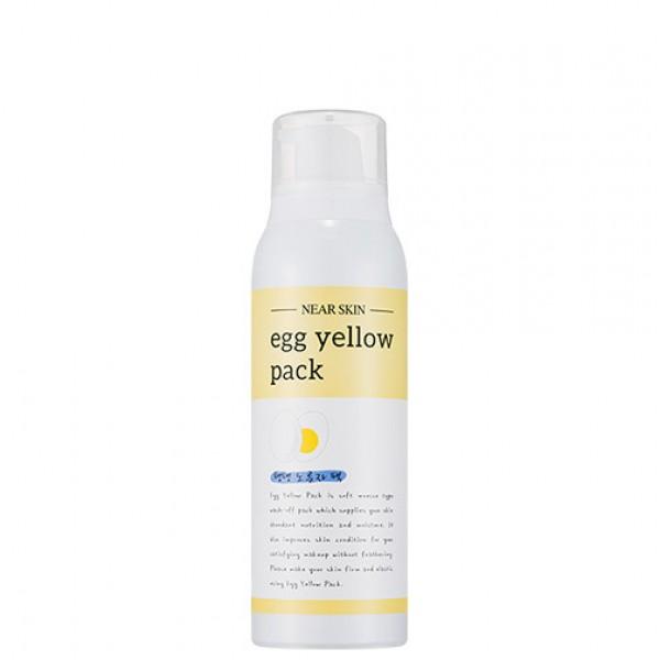 очищающая маска-мусс с экстрактом яичного желтка missha near skin egg yellow packNear Skin Egg Yellow Pack. Очищающая маска-мусс с экстрактом яичного желтка<br><br>Нежная маска-мусс с легкой сливочной текстурой предназначена для ухода за любым типом кожи. Маска мягко очищает кожу лица и стягивает поры, а также питает и смягчает кожу, делает ее нежной и бархатистой.<br><br>В основе маски экстракт яичного желтка, который богат витаминами А, B, Е, РР и К, содержит фолиевую кислоту, кальций, калий и другие, не менее полезные для красоты и здоровья кожи компоненты. Желток интенсивно питает кожу, способствует заживлению воспалений, успокаивает раздражения, стимулирует регенерацию и обновление кожи, деликатно сужает поры, мягко осветляет пигментацию и матирует кожу.<br><br>Также в составе маски:<br><br>Масло какао – питает и смягчает кожу, оказывает омолаживающее и регенерирующее действие, устраняет сухость и шелушения. Масло какао (в отличие от многих других масел) в морозную и ветреную погоду не охлаждает кожу, поэтому может использоваться при температуре ниже -20 градусов даже при длительном пребывании на улице. В жаркую погоду масло защитит кожу от агрессивного воздействия УФ-лучей. Регулярное использование масла какао позволит улучшить состояние кожи, сделать ее мягкой и бархатистой, упругой и эластичной.<br><br>Молочные протеины – ускоряют синтез коллагена, способствуют обновлению эпидермиса и стимулируют рост молодых клеток, оказывают противовоспалительное действие, укрепляют и увлажняют обезвоженную кожу, разглаживают сеточку морщин, создают защитный барьер, препятствующий потере влаги с поверхности кожи.<br><br>После использования маски кожа приобретает нежное естественное сияние, становится мягкой, гладкой и увлажненной.<br><br>Способ применения: Встряхнуть флакончик с маской, затем нанести средство на сухую кожу лица, мягко помассировать, а затем смыть теплой водой.<br><br>Объём: 100 мл<br>