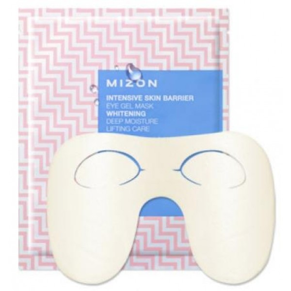 маска для глаз гидрогелевая mizon intensive skin barrier eye gel maskIntensive Skin Barrier Eye Gel Mask.&amp;nbsp;Маска для глаз гидрогелевая<br><br>Маска глубоко увлажняет кожу, питает, восстанавливает тонус и эластичность и разглаживает мимические морщины в уголках глаз.<br><br><br>аденозин, оказывающий антивозрастное действие, разглаживающий мимические морщины и улучшающий тонус кожи;<br><br>экстракт какао, тонизирующий кожу, улучшающий клеточный метаболизм и оказывающий эффект лифтинга;<br><br>пептид матриксил, стимулирующий восстановление коллагена, эластина и гиалуроновой кислоты в дерме, улучшающий эластичность кожи;<br><br>эпидермальный фактор роста EGF, активизирующий регенерацию клеток кожи, замедляющий старение и оказывающий антивозрастное действие;<br><br>цветочные экстракты (белой лилии, эдельвейса, магнолии), осветляющие тусклый оттенок кожи вокруг глаз и уменьшающие темные круги под глазами;<br><br>растительные экстракты корня пиона, корня женьшеня и корня колокольчика, оказывающие укрепляющее и увлажняющее действие на кожу;<br><br>масла арганы, оливы, подсолнечника и пенника лугового, питающие тонкую кожу под глазами, смягчающие и повышающие ее эластичность;<br><br><br>Маска не содержит агрессивных компонентов, и безопасна для чувствительной, реактивной кожи.<br><br>Действие новой серии Intensive Skin Barrier основано на сочетании низкомолекулярной гиалуроновой кислоты и керамидов (липидов). Защитный гидро-липидный барьер рогового слоя кожи состоит из керамидов и воды. При дефиците керамидов кожный барьер нарушается, влага начинает интенсивно испарятся, кожа становится сухой и вялой, теряет упругость, появляются мимические морщины.<br><br>Маска активно наполняет кожу вокруг глаз влагой благодаря механизму «слоистого» увлажнения, возвращает нормальный уровень увлажненности, восстанавливает кожный барьер изнутри и снаружи, улучшает тонус и эластичность эпидермиса и надолго сохраняет влагу в роговом слое кожи.<br><br>Маска имеет специальную «W»-образну