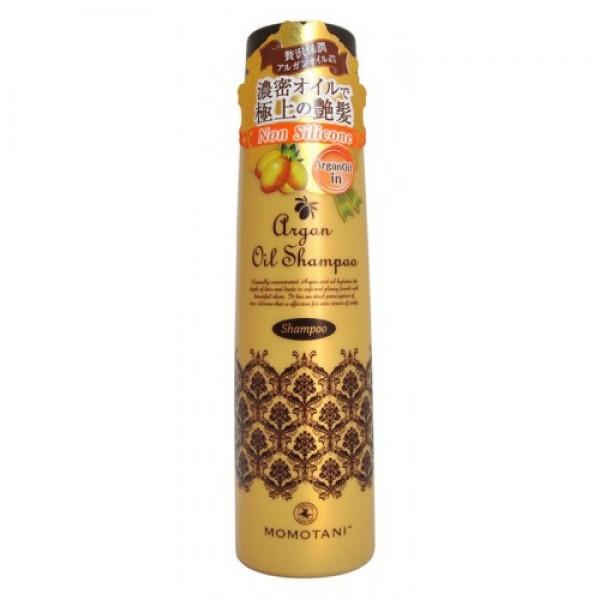 шампунь для волос с маслом арганы momotani organic argan shampooOrganic Argan Shampoo. Шампунь для волос с маслом арганы содержит натуральное марокканское масло арганы, которое превосходно удерживает влагу в волосах, обволакивает секущиеся кончики, восстанавливает ломкие и поврежденные волосы. Шампунь прекрасно очищает волосы и кожу головы, устраняет неприятные запахи, смягчает жесткие волосы и придает им блеск.<br><br>Активные компоненты:<br><br><br>Масло арганы - натуральный продукт для ухода за волосами. Его состав уникален и включает антиоксиданты, антибиотики и витамины А, Е, F, порядка 80 % полезных жирных кислот, которые интенсивно препятствуют старению волос. Масло защищает волосы от негативного воздействия окружающей среды, усиливает рост волос, восстанавливает их структуру, питает, делает волосы сильными, послушными, шелковистыми.<br><br>Масло Ши придает волосам гладкость и увлажняет их изнутри.<br><br>Кератин восстанавливает и укрепляет поврежденные волосы. Формула шампуня позволяет быстро получить воздушную пену. Массаж кожи головы с помощью этой нежной пены снимает усталость и стресс.<br><br><br>После мытья Вы получите увлажнённые, гладкие и блестящие до самых кончиков волосы. Не содержит силикон. Обладает нежным цветочным ароматом.<br><br>Способ применения: держа крышку флакона, повернуть колпачок с носиком против часовой стрелки так, чтобы колпачок поднялся вверх. Несколькими нажатиями выдавить и нанести на влажные волосы необходимое количество средства, вспенить массирующими движениями, смыть тёплой водой.<br><br>Меры предосторожности: не используйте средство, если оно вызывает покраснение, раздражение, зуд или воспаление кожи головы и проконсультируйтесь с врачом-дерматологом. Избегайте попадания в глаза, при попадании сразу же промойте глаза водой. Храните в недоступных для детей местах.<br><br>Состав: вода, лаурамидпропил гидроксисультаин, кокамидопропилбетаин, лаурет сульфат натрия, лауроил метил амино пропионат натрия, кокамид DEA, DPG, олефин с