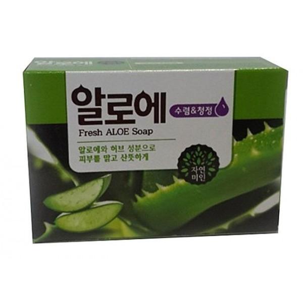 мыло с экстрактом алоэ • mukunghwa fresh aloe soap