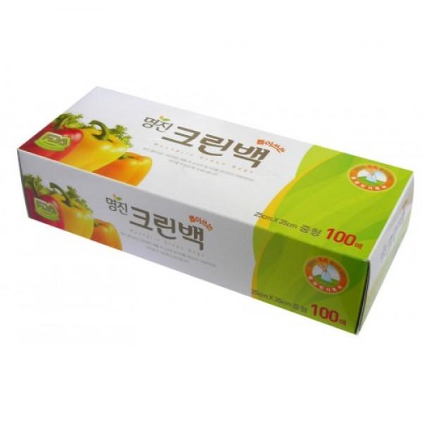 пакеты полиэтиленовые пищевые в коробке myungjin bags tissue typeBags Tissue Type. Пакеты полиэтиленовые пищевые в коробке<br><br>Безопасные, удобные и прочные пакеты изготовлены из полиэтилена низкого давления.<br><br>Предназначены для хранения пищевых и непищевых продуктов.<br><br>Пакеты упакованы в картонную коробку с отверстием для удобного их извлечения.<br><br>Используются в диапазоне температур от -600С до 1200С. Подходят для заморозки и разогрева продуктов в СВЧ печах.<br><br>Состав: HDPE F500 (полиэтилен низкого давления).<br><br>Меры предосторожности: не нагревайте пакет в микроволновой печи, если он находится в закрытом состоянии или в нем хранятся продукты питания с большим содержанием жира. Не упаковывайте жидкие товары, они могут вытечь. Острые предметы или инструменты могут повредить пакет. Не подносите близко к огню.<br><br>Размеры:<br><br><br>25 x 35 см<br><br>17 x 25 см<br><br><br>Количество:&amp;nbsp;100 шт.<br><br>Вес г: 60.00000000