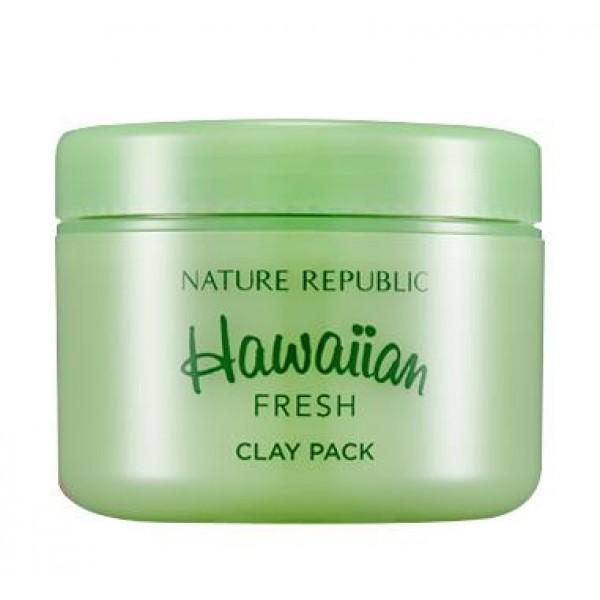 маска для глубокого очищения nature republic hawaiian fresh clay packHawaiian Fresh Clay Pack. Маска для глубокого очищения<br><br>Маска от производителя высокоэффективной натуральной косметики за одно применение избавит кожу от множества проблем: она устранит воспаления, раздражения, избавит кожу от черных точек, излишек кожного сала, жирного блеска, мертвых клеток, приведет в норму баланс жирности кожи, при этом интенсивно наполняя кожу питательными веществами и препятствуя возникновению сухости.<br><br>Маска восстановит и усилит защитные функции кожи, она воздействует на кожу бережно и мягко, поэтому ее применение возможно даже на самой чувствительной коже. Особенно рекомендуется использовать маску обладательницам проблемной и склонной к возникновению прыщей и воспалений кожи.<br><br>Продукт содержит множество ценных вытяжек растений, которые убирают красноту, ускоряют процессы клеточного обновления, усиливают кровообращение и способствуют глубинному проникновению питательных веществ. Они эффективно борются с вредоносными бактериями, заживляют поврежденные участки кожи, уменьшают количество прыщей на коже, препятствуя их дальнейшему высыпанию.<br><br>Способ применения: Наносить на очищенную и тонизированную кожу лица, Распределить мягкими движениями по коже, не затрагивая зоны около глаз и губ. Оставить на 10-15 минут, после чего смыть при помощи теплой воды.<br><br>Объем: 95 мл<br>
