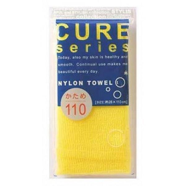 мочалка для тела жесткая (желтая) o:he cure nylon towel hard yellow