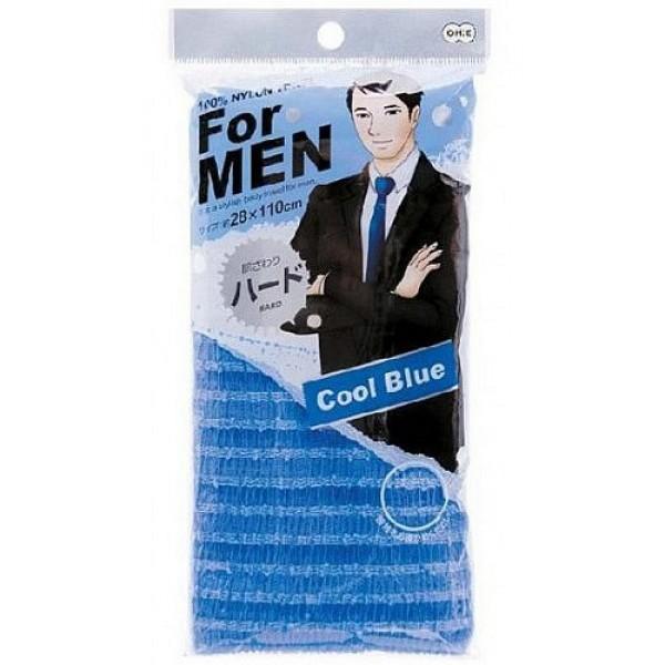 мочалка массажная жесткая для мужчин o:he men body towel normalMen Body Towel Normal. Мочалка массажная жесткая для мужчин (голубая)<br><br>Длина мочалки 120 сантиметров разработана для более удобного мытья специально для мужчин. Объёмное плетение нейлоновых нитей способствует созданию великолепной устойчивой пены, даже с небольшим количеством геля. Мочалка прекрасно массирует тело, обеспечивает улучшение циркуляции крови, что в свою очередь позволяет себя чувствовать бодрым и отдохнувшим после принятия душа или ванны. <br><br>После мытья мочалку необходимо очистить от остатков мыла и высушить.<br><br>Предупреждение: использовать мочалку только для мытья тела; при чувствительной коже тела, а также в случае длительного и интенсивного трения одного и того же участка тела может возникнуть раздражение кожи; в процессе длительного использования размер мочалки и её форма может слегка деформироваться; не использовать для стирки мочалки синтетические моющие средства, отбеливание, машинную стирку и сушку; не сушить мочалку вблизи открытого огня.<br><br>Состав: 100% нейлон.<br>