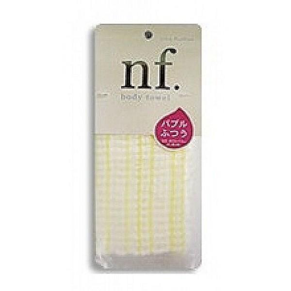 мочалка для тела пузырчатая средней жесткости o:he nf body towel hard whiteNF Body Towel Hard White. Мочалка массажная для тела пузырчатая средней жесткости<br><br>Специальное объемное плетение нейлоновых нитей способствует созданию великолепной устойчивой пены, даже с небольшим количеством геля. <br><br>Мочалка прекрасно массирует тело, обеспечивает улучшение циркуляции крови, что в свою очередь позволяет себя чувствовать бодрым и отдохнувшим после принятия душа или ванны. <br><br>После мытья мочалку необходимо очистить от остатков мыла и высушить.<br><br>Состав: 100% нейлон. 20x110 см.<br>