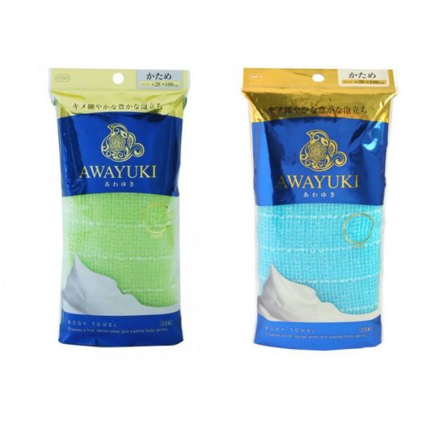 мочалка для тела ohe corporation awayuki nylon towelAwayuki Nylon Towel. Мочалка для тела<br><br>Массажная мочалка прекрасно массирует тело, улучшает циркуляцию крови, в результате вы чувствуете бодрость после принятия душа. Специальное объёмное плетение нейлоновых нитей позволяет создавать густую нежную пену даже при минимальном количестве используемого мыла или геля для душа.<br><br>После мытья мочалку необходимо очистить от остатков мыла и высушить.<br><br>Варианты изготовления:<br><br><br>жесткая<br><br>сверхжесткая<br><br><br>Меры предосторожности: мочалка предназначена только для мытья тела. Используйте с осторожностью при чувствительной коже тела.<br><br>*В процессе длительного использования размер мочалки и её форма может слегка деформироваться.<br><br>**Не использовать для стирки мочалки синтетические моющие средства, отбеливание, машинную стирку и сушку; не сушить мочалку вблизи открытого огня.<br><br>Состав: 100% нейлон.<br><br>Размер: 28x100 см.<br><br>Вес г: 30.00000000