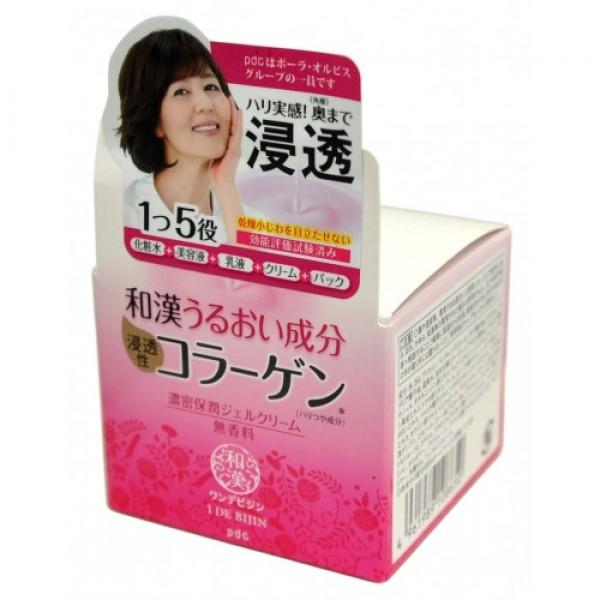 увлажняющий крем-гель 5 в 1 pdc deep moisture gel creamDEEP MOISTURE GEL CREAM. Увлажняющий крем-гель 5 в 1 с восточными травами для антивозрастного ухода за кожей лица.<br><br>Увлажняющий крем-гель 5 в 1 заменяет собой лосьон, эссенцию, молочко, крем и маску.<br><br>Глубоко проникая в кожу, интенсивно увлажняет ее, придает упругость, делает незаметными мелкие морщины, возникшие в результате сухости кожи. Обеспечивает интенсивный антивозрастной уход.<br><br>Активные компоненты: Специально подобранный комплекс восточных трав (экстракты корня солодки, корня молочноцветкового пиона, корня ангелики японской, цветов гвоздичного дерева, камнеломки лекарственной, кожуры мандарина Уншиу, шелковицы белой, корня женьшеня, корня пиона древовидного, корня шлемника байкальского, хауттюйнии сердцевидной, трутовика, коикса) увлажняет кожу, придает ей упругость и сияние. Гиалуроновая кислота и коллаген обеспечивают глубокое увлажнение и упругую сияющую кожу. Ретинол стимулирует обновление клеток кожи и синтез коллагена. В результате разглаживаются мелкие морщинки, кожа становится гладкой.<br><br>При производстве средства использована вода из природных горячих источников. Не содержит ароматизаторов.<br><br>Способ применения: небольшое количество крема нанесите на очищенную кожу лица. Используйте утром и вечером. Если на отдельных участках кожи ощущение сухости не проходит, нанесите крем повторно. *Концентрированная увлажняющая маска. После умывания нанесите крем на лицо более плотным слоем, чем обычно. Излишки крема через 5 минут промокните салфеткой. Не смывайте.<br><br>Меры предосторожности: при покраснении, зуде, раздражении после применения прекратите использование средства и проконсультируйтесь с врачом-дерматологом. После использования плотно закрывайте крышкой. Храните в недоступных для детей местах.<br><br>Состав: вода, BG, глицерин, пентиленгликоль, масло косточек макадамии, масло виноградных косточек, сквалан, диглицерин, карбомер, полиглицерил-10 стеарат, гликозилтрегалоз