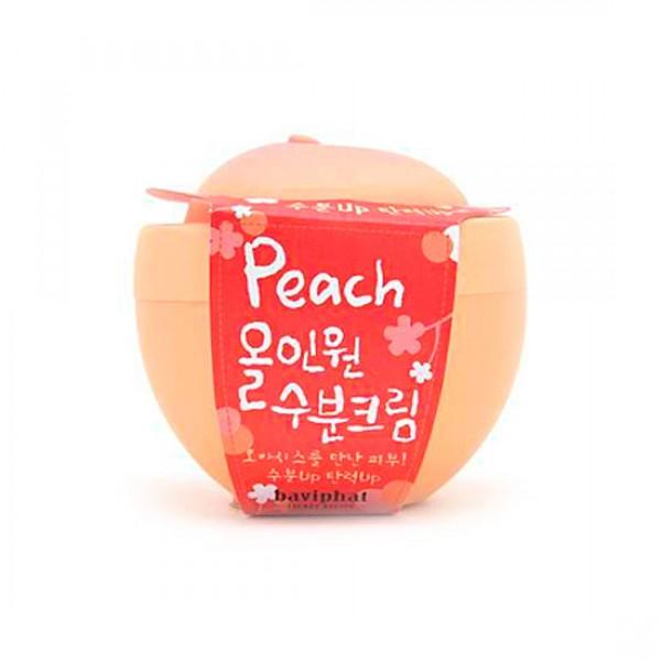 крем увлажняющий все-в-одном baviphat peach all-in-one moisture creamPeach All-in-one Moisture Cream. Крем увлажняющий Все в одном многофункциональный, глубоко увлажняющий крем с экстрактом персика оказывает осветляющее и лечебное действие на кожу.<br><br>Благодаря входящим в состав соку алоэ вера и гиалуроновой кислоте крем наполняет кожу влагой и повышает ее эластичность. Экстракты ромашки лекарственной, календулы и розмарина успокаивают чувствительную кожу и снимают раздражения и воспаления. Арбутин осветляет пигментацию кожи, а аденозин разглаживает мимические морщины и оказывает противовозрастное действие. Экстракт персика, содержащий амигдалин, ликопин, жирные кислоты, витамин B15, увлажняет, освежает и улучшает тон кожи, делает ее яркой и сияющей. Бета-глюкан в составе крема повышает упругость кожи, стимулирует образование коллагена и омоложивает кожу. Крем с легкой гелевой текстурой хорошо впитывается, приятно пахнет персиком и действует как настоящий оазис для сухой, обезвоженной кожи.<br>&amp;nbsp;<br><br>вес: 100г<br><br>Вес г: 100.00000000