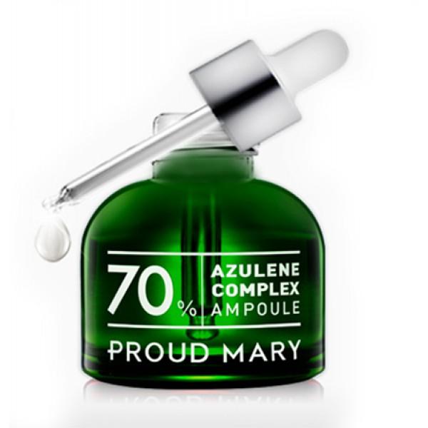 комплекс азулена 70% в ампуле proud mary azulene complex ampoule 70%Azulene Complex Ampoule 70%. Комплекс азулена 70% в ампуле.<br><br>Содержит азулен, который обладает противовоспалительным, антибактериальным и восстанавливающим свойствами.<br><br>&amp;nbsp;<br><br>Растительные экстракты помогают регулировать водно - жировой баланс кожи, увлажнять и успокаивать, не вызывая раздражения.<br><br>&amp;nbsp;<br><br>Ускоряет процессы регенерации кожи. Обладает увлажняющими свойствами.<br><br>&amp;nbsp;<br><br>Применение: После применения тоника нанесите 2-3 капли на кожу лица мягкими похлопывающими движениями. Рекомендуется использовать утром и вечером.<br><br>&amp;nbsp;<br><br>Состав: Water, Butylene Glycol, Mannan, Glycerin, Sodium Chondroitin Sulfate , Citrus Grandis (Grapefruit) Seed Extract, Propylene Glycol, 1,2-Hexanediol, Schima Wallichii Bark Extract, Dimethyl Sulfone, Gaultheria Procumbens (Wintergreen) Leaf Extract, Sophora Angustifolia Root Extract, Psoralea Corylifolia Fruit Extract, Eclipta Prostrata Extract, Symphytum Officinale Leaf Extract, Mentha Piperita (Peppermint) Extract, Polysorbate 80, Sodium Oleth-8 Phosphate, Melaleuca Alternifolia (Tea Tree) Leaf Oil, Azulene, sh-Oligopeptide-1, sh-Polypeptide-1, sh-Polypeptide-16, sh-Polypeptide-4, Nicotinoyl Hexapeptide-44, Lecithin, Polysorbate 20, Ethylhexylglycerin, Cellulose Gum, Phenoxyethanol.<br>