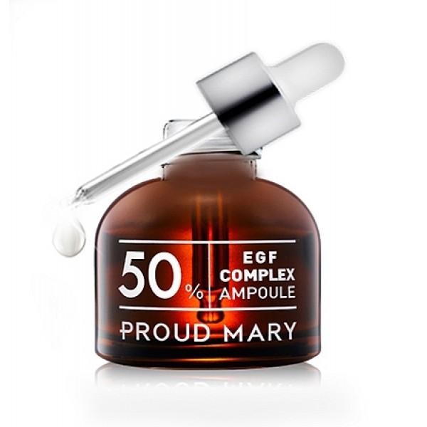 комплекс egf 50% в ампуле proud mary egf complex ampoule 50%EGF Complex Ampoule 50%. Комплекс EGF 50% в ампуле.<br><br>Содержит эпидермальный фактор роста в высокой концентрации – 50%<br><br>&amp;nbsp;<br><br>Способствует восстанавлению и естественному обновлению кожи и помогает усилить кожный иммунитет.<br><br>&amp;nbsp;<br><br>Уменьшает воздействие вредных факторов на кожу.<br><br>&amp;nbsp;<br><br>Предотвращает преждевременное появление морщин.<br><br>&amp;nbsp;<br><br>Улучшающий состояние увядающей кожи и повышающий её эластичность и упругость. Увлажняет и смягчает кожу<br><br>&amp;nbsp;<br><br>Применение: Перед применением сыворотки на очищенную кожу можно нанести тоник.&amp;nbsp;<br><br>Нанесите 2-3 капли сыворотки на кожу лица мягкими похлопывающими движениями.&amp;nbsp;<br><br>Используйте утром и вечером.<br><br>&amp;nbsp;<br><br>Состав: Water, Biosaccharide Gum-1, Butylene Glycol, Glycerin, Trehalose, Eclipta Prostrata Extract,1,2-Hexanediol , Sodium Chondroitin Sulfate , Methyl Methacrylate Crosspolymer, Arginine, Allantoin, Adenosine, Lavandula Angustifolia (Lavender) Oil, Isohexadecane, Polysorbate 80, sh-Oligopeptide-1, sh-Polypeptide-1, sh-Polypeptide-16, sh-Polypeptide-4, Lecithin, Nicotinoyl Hexapeptide-44, Polysorbate 20, Sodium Acrylate/Sodium Acryloyldimethyl Taurate Copolymer, Acrylates/C10-30 Alkyl Acrylate Crosspolymer, Xanthan Gum, Phenoxyethanol, Disodium EDTA.<br><br>&amp;nbsp;<br>