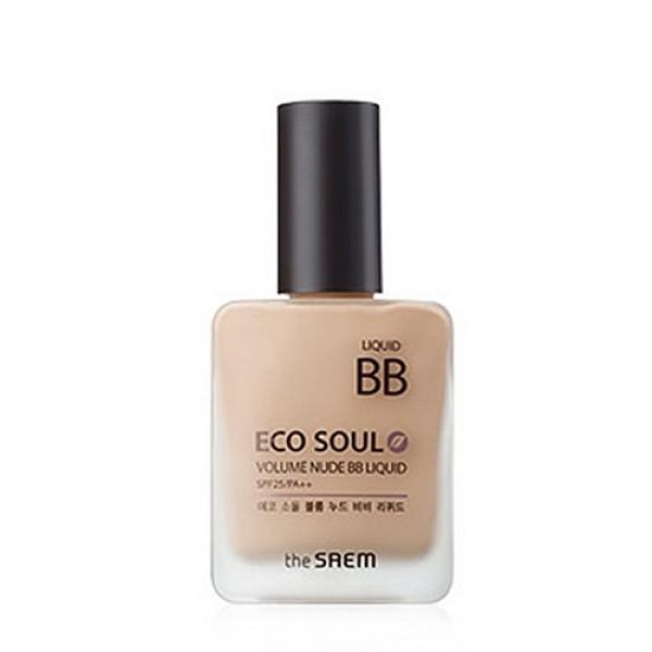 бб крем (№2) the saem eco soul volume nude bb liquid natural beigeEco Soul Volume Nude BB Liquid 02&amp;nbsp;Natural Beige. ББ Крем (№2) эффект обнаженной кожи<br><br>Многофункциональный бб крем предназначен для осветления пигментации, выравнивания тона кожи и разглаживания морщин.<br><br>&amp;nbsp;<br><br>Легкой вуалью покрывая лицо, он создает на коже нежное, естественное покрытие. Благодаря технологии адаптации цвета, этот бб-крем с мягкой текстурой великолепно сливается с каждым индивидуальным тоном кожи, скрывая различные кожные несовершенства и обеспечивая эффект совершенной кожи без признаков макияжа.<br><br>&amp;nbsp;<br><br>В составе крема высокое содержание омолаживающих, осветляющих, увлажняющих, оздоравливающих кожу компонентов, которые, благодаря целенаправленному воздействию восстанавливают клетки кожи, корректируют ее тон, заметно сокращают морщины и разглаживают кожу, защищают ее естественную красоту от агрессивного воздействия окружающей среды, в том числе от фотостарения (фактор защиты от УФ-излучения SPF25 PA ++.<br><br>&amp;nbsp;<br><br>Ниацинамид – высокоэффективный осветляющей компонент, безопасный для кожи, осветляет темные участки кожи, уменьшает покраснения и следы пост-акне. Запускает процессы мощного клеточного обновления, стимулирует синтез коллагена, восстанавливает барьерную функцию кожи и уменьшает потерю влаги, улучшает эластичность, уменьшает видимые проявления старения, регулирует выработку кожного сала и устраняет жирный блеск лица.<br><br>&amp;nbsp;<br><br>Аденозин – поддерживает клеточную активность, способствует устранению морщин: мелкие разглаживаются, а глубокие становятся менее выраженными. Аднеозин – очень эффективный компонент антивозрастной косметики, так как он не разрушается под воздействием тепла и света, поэтому подходит и для дневного ухода за кожей, не теряя своих свойств.<br><br>&amp;nbsp;<br><br>Растительные экстракты зеленого чая, алоэ вера, чайного дерева, тысячелистника, полыни, арники, лимона, рисовых отрубей у
