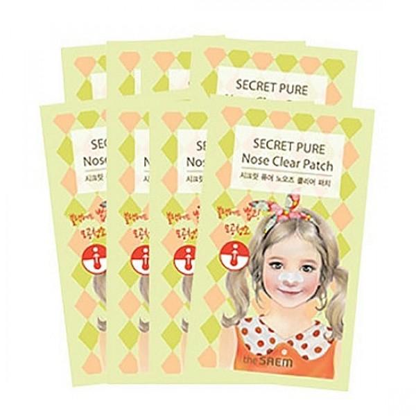 набор пластырей против акне the saem secret pure nose clear patch set (8pcs)Secret Pure Nose Clear Patch Set (8pcs). Набор пластырей против акне.<br><br>Проблема с черными точками, известна очень многим, и путей решения этой проблемы тоже немало. Это и салонные процедуры, и специальные косметические средства.<br><br>Одно из этих средство – специальные пластыри-патчи от&amp;nbsp;THE SAEM.<br><br>Интенсивная эссенция, которой пропитаны патчи, помогает раскрыть поры и вытянуть из них скопившиеся сальные пробки, отмершие клетки кожи и любые загрязнения.<br><br>Применение:&amp;nbsp;Очищенную кожу носа намочить водой и наклеить на нее патч. Через 10-15 минут, когда полоска станет сухой и твердой, аккуратно удалить ее.<br><br>В наборе 8 шт.<br>