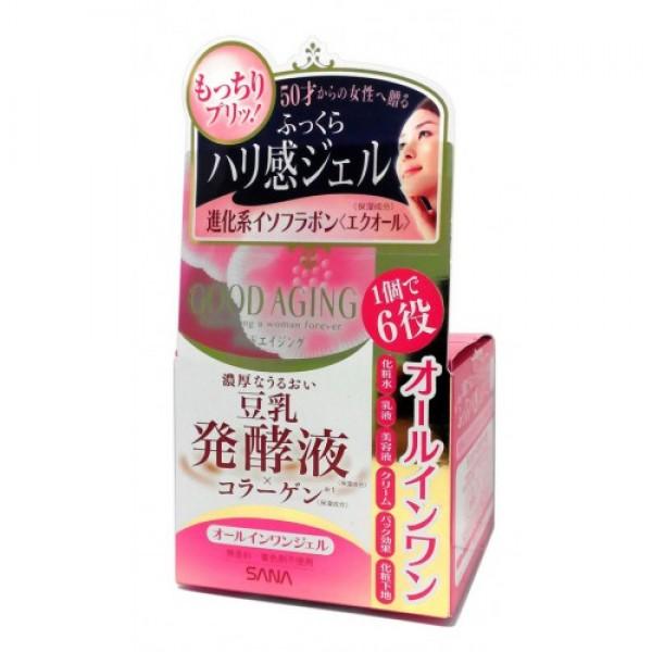 увлажняющий и подтягивающий крем для зрелой кожи 6 в 1 sana good aging creamGOOD AGING CREAM. Увлажняющий и подтягивающий крем для зрелой кожи 6 в 1<br><br>Увлажняющий и подтягивающий крем представляет собой универсальное средство, заменяющее 6 средств по уходу - лосьон, косметическое молочко, эссенцию, крем, маску и основу под макияж. Идеально подходит для ухода за зрелой кожей (старше 50 лет). Интенсивно увлажняет и питает кожу, придает ощущение мягкости и упругости, заметно разглаживает морщины. После использования крема Ваша кожа будет выглядеть молодой, отдохнувшей и сияющей.<br><br>Активные компоненты:<br><br><br>Изофлавоны, полученные из соевых бобов и красного клевера - это натуральные фитоэстрогены. Эффективно улучшают состояние кожи, придают ей ровный цвет и сияющий вид, делают упругой и гладкой, уменьшают глубину морщин. Способствуют удержанию влаги в коже.<br><br>Экстракт граната благодаря содержанию мощного антиоксиданта - эллаговой кислоты - разглаживает морщины и препятствует преждевременному старению кожи. Увлажняет сухую, уставшую и потерявшую здоровый цвет кожу, питает и делает ее эластичной.<br><br>Коллаген и гиалуроновая кислота придают коже упругость и увлажняют.<br><br>Церамиды сохраняют баланс влаги в эпидермисе, препятствуют фотостарению и возникновению мелких морщин, выравнивают цвет лица, повышают эластичность, тонус и упругость кожи.<br><br>Витамин В12 освежает и тонизирует кожу, разглаживает мелкие морщинки, замедляет процесс старения.<br><br><br><br>Не содержит консервантов, красителей и отдушек.<br><br>Способ применения: небольшое количество крема нанесите на очищенную кожу лица. Используйте утром и вечером. Если на отдельных участках кожи ощущение сухости не проходит, нанесите крем повторно.<br><br>*Концентрированная увлажняющая маска. После умывания нанесите крем на лицо более плотным слоем, чем обычно. Излишки крема через 5 минут промокните салфеткой. Не смывайте.<br><br>Внимание при применении: при покраснении, зуде, раздражении пос