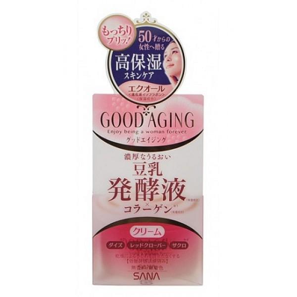крем подтягивающий для зрелой кожи sana good aging creamGood Aging Cream. Крем увлажняющий и подтягивающий для зрелой кожи идеально подходит для женщин старше 50 лет. Интенсивно увлажняет и питает кожу, заметно разглаживает морщины, уменьшает пигментные пятна и позволяет вашей коже выглядеть молодой и отдохнувшей.<br><br>Активные компоненты:<br><br><br>&amp;nbsp;&amp;nbsp;&amp;nbsp; Изофлавоны, полученные из соевых бобов и красного клевера - это натуральные фитоэстрогены. Эффективно улучшают состояние кожи, придают ей ровный цвет и сияющий вид, делают упругой и гладкой, уменьшают глубину морщин. Способствуют удержанию влаги в коже.<br><br>&amp;nbsp;&amp;nbsp;&amp;nbsp; Экстракт граната благодаря содержанию мощного антиоксиданта - эллаговой кислоты -&amp;nbsp; разглаживает морщины и препятствует преждевременному старению кожи. Увлажняет сухую, уставшую и потерявшую свой здоровый цвет кожу, питает ее, смягчает и придает эластичность.<br><br>&amp;nbsp;&amp;nbsp;&amp;nbsp; Масла пенника лугового и макадамии обладают регенерирующими свойствами, разглаживают морщины, повышают упругость и эластичность кожи. Увлажняют кожу, создают невидимую защитную пленку на поверхности кожи, которая препятствует испарению влаги.<br><br>&amp;nbsp;&amp;nbsp;&amp;nbsp; Коллаген и гиалуроновая кислота увлажняют и придают коже упругость.<br><br>&amp;nbsp;&amp;nbsp;&amp;nbsp; Церамиды сохраняют баланс влаги в эпидермисе, препятствуют фотостарению и возникновению мелких морщин, выравнивают цвет лица, повышают эластичность, тонус и упругость кожи.<br><br><br><br>Не содержит консервантов, красителей и отдушек.<br><br>Способ применения: нанесите на очищенную кожу лица после умывания и применения лосьона. Используйте крем утром и вечером. Если на отдельных участках кожи ощущение сухости не проходит, нанесите крем повторно.<br>*Для достижения лучшего результата используйте в сочетании с увлажняющим и подтягивающим лосьоном линии GOOD AGING.<br><br>Внимание при применении: При покраснении, зуде, разд