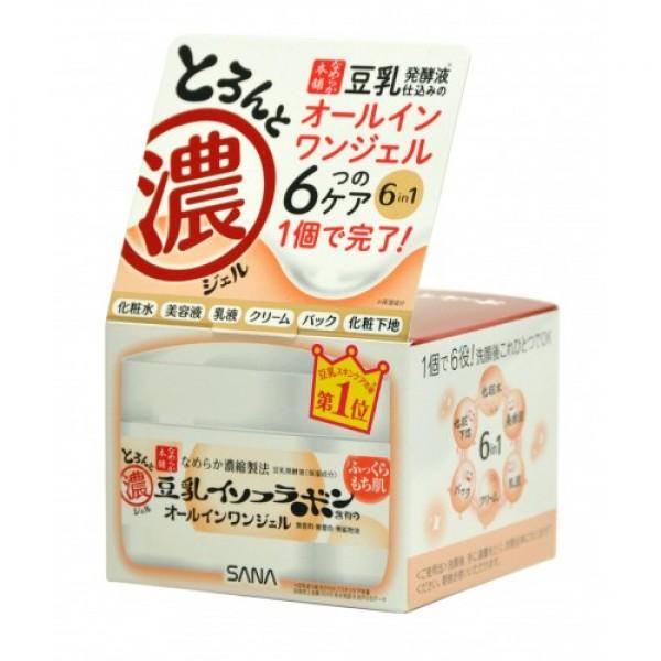 крем - гель увлажняющий с изофлавонами сои 6 в 1 sana soy milk gel creamSOY MILK GEL CREAM. Крем - гель увлажняющий с изофлавонами сои 6 в 1<br><br>Крем - гель представляет собой универсальное средство 6 в 1. Заменяет целую линейку средств по уходу за лицом: лосьон, молочко, эссенцию, крем, косметическую маску, основу под макияж. Крем придает коже ровный цвет и сияющий вид, делает ее мягкой и гладкой, насыщает сбалансированным составом питательных веществ, улучшает цвет лица, восстанавливает защитные функции кожи. Глубоко увлажняет, повышает естественные упругость и эластичность кожи за счёт действия полученных из соевых бобов увлажняющих компонентов:<br><br><br>изофлавоны, полученные из соевых бобов; изофлавоны, полученные из ферментированного соевого молока;<br><br>экстракт соевых бобов;<br><br>растительный коллаген, полученный из соевого белка.<br><br>Токоферол (витамин Е), входящий в состав крема, обладает мощным антиоксидантным действием, нейтрализуя свободные радикалы и защищая клетки кожи от разрушения.<br><br><br><br>При использовании перед сном крем создаёт так называемый эффект маски, удерживая влагу в клетках кожи в течение всей ночи. Утром кожа глубоко увлажнённая, упругая и эластичная. Не содержит парфюмерных отдушек, искусcтвенных красителей и минеральных масел. В состав не входит генно - модифицированная соя.<br><br>Способ применения: нанесите на очищенную кожу лица после умывания. Используйте крем утром и вечером.<br><br>Состав: вода, DPG, глицерин, цетил этилгексаноат, пентиленликоль, дифенилсилокси фенил триметикон, триэтилгексаноин, PEG-60 гидрогенезированное касторовое масло, PEG-240/HDI сополимер BIS-децилтетрадлецет -20 эфир, трегалоза, феноксиэтанол, бегениловый спирт, натрия стеароил глутамат, акрилат/С10-30 алкил акрилат кроссполимер, токоферол, лактобактерии, полученные в результате брожения соевого молока, пентанатрия пентенат, натрия гидроксид, BG, соевый белрк, экстракт соевых бобов.<br><br>Вес: 100 г<br><br>Вес г: 100.00000000