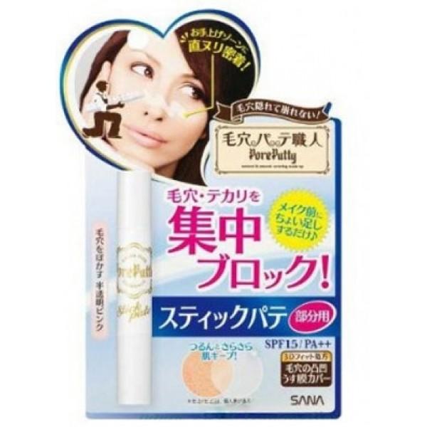 консилер-стик, маскирующий заметные поры sana spf15 pore putty stick concealerSPF15 Pore Putty Stick Concealer. Консилер - стик, маскирующий заметные расширенные поры, SPF 15 очень удобен в применении. Наносится непосредственно на проблемные участки кожи, маскирует расширенные поры и неровности кожи, уменьшает выработку кожного сала, выравнивает цвет кожи.<br><br>Применена новая 3D - формула: в состав консилер&amp;nbsp;входит силиконовый гель-порошок, который, меняя форму, заполняет все неровности и корректирует недостатки кожи.<br>Консилер&amp;nbsp;содержит коллаген, придающий упругость и экстракт листьев артишока, сужающий поры.<br>Имеет светло - розовый цвет, подстраивается под любой тон кожи.<br>Гладкая кожа и безупречный макияж одним движением!<br><br>Держится в течение дня, оставаясь незаметным под макияжем.<br>Применяется даже при нанесённом на кожу макияже, ложится ровно, оставаясь незаметным после нанесения.<br>Последовательность применения: лосьон -&amp;nbsp;консилер&amp;nbsp;- пудра или лосьон - жидкая основа под макияж -&amp;nbsp;консилер&amp;nbsp;- пудра.<br><br>Способ применения: завершив утренний уход за кожей, нанесите&amp;nbsp;консилер&amp;nbsp;на проблемные участки кожи. Затем нанесите обычный макияж.<br><br>Меры предосторожности: при покраснении, зуде, раздражении после применения прекратите использование средства и проконсультируйтесь с врачом-дерматологом. Не храните в местах повышенных/пониженных температур, избегайте попадания прямых солнечных лучей.<br><br>Состав: дифенил силокси фенилтриметикон, диметикон, полиметил метакрилат, церезин, винил диметикон/метикон силсексвиоксан, кроссполимер, этилгексил метоксициннамат, кремний, слюда, триметилопропан триэтилгексаноат, лауроил лизина, микрокристаллический воск, дипентаэритритил, тетрагидроксистеарат/тетраизостеарат, диоксид титана, сорбитансесквиолеат, карнаубский воск, гидроксид алюминия, диметикон/винил диметикон кроссполимер, стеариновая кислота, токоферол, оксид железа, вода, BG, диметикон 