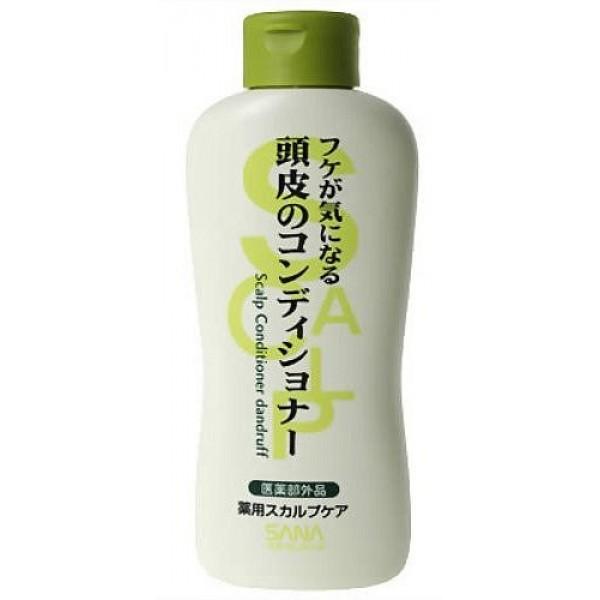 кондиционер от перхоти sana scalp conditioner dandruffScalp Conditioner Dandruff. Кондиционер от перхоти эффективно дополняет действие шампуня, убирает излишки жира, защищает от перхоти, поддерживают красоту и здоровье волос. <br><br>Содержит освежающий ментол, экстракт морских водорослей, D-пантотеновый спирт, экстракт мыльнянки, компонент пироктоноламин, который уничтожает микроорганизмы, вызывающие перхоть. <br><br><br>Мыльнянка - природное очищающее средство, богатое сапонинами. Обладает противовоспалительным и нормализующим действием на сальные железы. <br><br>Морские водоросли оказывают лечебно-профилактическое действие на кожу, восстановливают минеральный баланс, содержат полисахариды, витамины А, D, В2, Е, минеральные элементы кальций и магний, микроэлементы йода, брома, фосфора, цинка, железа, серы, цинка, хлорофилл, жирные кислоты, регулируют работу сальных желез. <br><br>Салициловая кислота отшелушивает и глубоко очищает кожу. Обладает ароматом свежей мяты.<br><br><br><br>Применение: После использования шампуня нанесите на влажные волосы, легко помассируйте, смойте водой.<br><br>Состав: салициловая кислота, дикалий глицинорициновой кислоты, густой глицерин, хлорид алкилтриметиламмония, цетанол, декаметил-циклопентасилоксан, D-пантотеновый спирт, экстракт морских водорослей (4), экстракт мыльнянки, BG, альгинин, l-ментил-глицеринэтил, l-ментол, полиэтиленгликоль, эпихлоргидрин, алкиламин коксового масла, дипропилен триамин, метилполисилоксан (1), глицерин моностеариновой кислоты, ангидрид лимонной кислоты, феноксиэтанол, отдушка, парабены.<br><br>250 мл.<br>