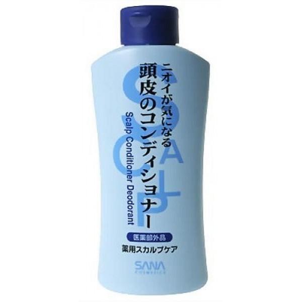 дезодорирующий кондиционер sana scalp conditioner deodorantScalp Conditioner Deodorant. Дезодорирующий кондиционер удаляет неприятный запах, поддерживает красоту и здоровье волос. Предотвращает появление неприятных запахов. Содержит антибактериальные компоненты. Обладает свежим ароматом зеленой мяты.<br><br>Применение: После использования шампуня нанесите на влажные волосы, легко помассируйте, смойте водой.<br><br>Состав: D-пантотениловый спирт, салициловая кислота, вода, DPG, бехениловый спирт, метилполисилоксан, полиоксиэти-ленолеиловый эфир, алкилтриметиламмониум, эксракт мелиссы, BG, изопропанол, этанол, октилдодеканол, гидроксиэтил-целлюлоза, дистеарилдиметиламмониум, гидроокись калия, отдушка, парабены.<br><br>250 мл.<br>