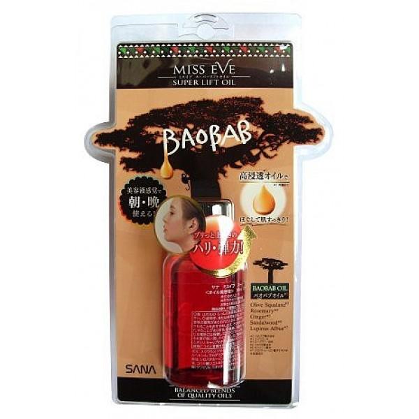 массажное масло для лица с эффектом лифтинга sana super lift oil baobabSuper Lift Oil Baobab. Массажное масло для лица с эффектом лифтинга серии Мисс Ив делает кожу упругой и эластичной. Содержит необходимые коже жирные кислоты, в том числе омега-3 и омега-6, витамины. Глубоко проникает в кожу, интенсивно увлажняет, смягчает, подтягивает и освежает. Создает защитный барьер, сохраняя влагу в коже. Кожа становится нежной и шелковистой.<br><br>В составе средства - оптимальное сочетание водорастворимых масел и экстрактов, обладающих высокой проникающей способностью:<br>- масло из плодов баобаба<br>- сквалан оливковый<br>- розмариновое масло<br>- масло корня имбиря<br>- экстракт сандала<br>- экстракт семян люпина белого<br><br>Быстро впитывается, не оставляет кожу жирной.<br>Благодаря эффекту ароматерапии, масло оказывает освежающее и расслабляющее действие.<br><br>Способ применения: после очищения кожи и нанесения лосьона, 2-3 капли масла нанесите на лицо. Затем в течение нескольких минут сделайте массаж.<br>*по контуру лица<br>Сожмите пальцы в кулачки и с несильным нажимом проведите ими от подбородка вверх по контуру лица и по массажным линиям.<br>*вокруг глаз<br>Нежно массируйте кожу подушечками пальцев.<br>Рекомендуется применять утром и вечером.<br>Будьте осторожны - следите, чтобы масло не вытекло при встряхивании флакона.<br><br>Меры предосторожности: при покраснении, зуде, раздражении после применения прекратите использование средства и проконсультируйтесь с врачом-дерматологом. Не храните в местах повышенных/пониженных температур, избегайте попадания прямых солнечных лучей.<br><br>Состав: сквалан, полиглицерил-2 триизостеарат, этилгексил пальмитат, масло макадамии,<br>диэтоксиэтил соли янтарной кислоты, токоферол, масло герани душистой, апельсиновое масло, масло лаванды, масло пачули, масло розы дамасской, масло плодов баобаба, масло семян подсолнечника, каприл/каприновый триглицерид, масло корня имбиря, розмариновое масло, экстракт семян люпина белого.<br><br>3