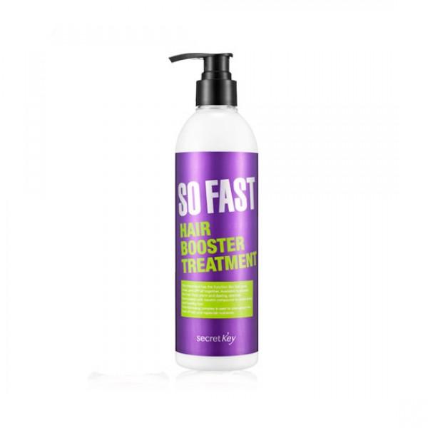 бальзам для быстрого роста волос secret key so fast hair booster treatmentSo Fast Hair Booster Treatment&amp;nbsp;Бальзам для быстрого роста волос способствует росту волос, предотвращает выпадение волос и улучшает структуру волоса.<br><br>Кондиционер-маска SECRET KEY Premium So Fast Hair Booster Treatment поможет восстановить Ваши волосы и придать им желанный блеск и красоту.<br><br>Средство базируется на экстракте черного риса, кунжута и черных бобов.<br><br>Кондиционер питает волосы, предотвращает ломкость и контролирует водный баланс кожи головы.<br><br>Способ применения: используйте, как кондиционер. Нанесите немного средства после использования шампуня на всю длину волос и смойте теплой водой водой через 3-4 минуты. Используйте, как маску: нанесите средство по всей длине волос и оставьте на 20 минут. После этого, смойте средство теплой водой и в самом конце, ополосните волосы прохладной водой, чтобы придать им дополнительный блеск.<br>