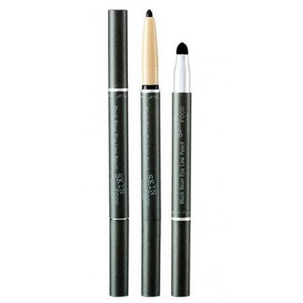 карандаш для глаз skin food  black bean eye liner pencilBlack Bean Eye Liner Pencil.&amp;nbsp;Карандаш для глаз<br><br>Чтобы макияж глаз был ярким, выразительным и завершенным, важно подчеркнуть их контуры. Позволит это сделать правильно и аккуратно карандаш от Skinfood.<br><br>С одной стороны грифель карандаша, который мягко прорисовывает стрелочки необходимой толщины, не царапая и не растягивая кожу. В составе грифеля экстракт черных бобов, который увлажняет и успокаивает, поэтому карандаш может использоваться даже для самой чувствительной кожи.<br><br>С другой стороны карандаша маленький спонж-аппликатор, с помощью которого можно легко растушевать контур.<br><br>Тщательно подобранные компоненты делают подводку стойкой, можно не переживать, что макияж поплывает или осыплется.<br><br>Возможные оттенки:<br><br><br>01. Black<br><br>02. Blue<br><br>03. Brown<br><br>04. Violet<br><br><br>Способ применения: Начиная с внутреннего уголка глаз нарисовать стрелочки.<br><br>Вес: 12 г<br><br>Вес г: 12.00000000