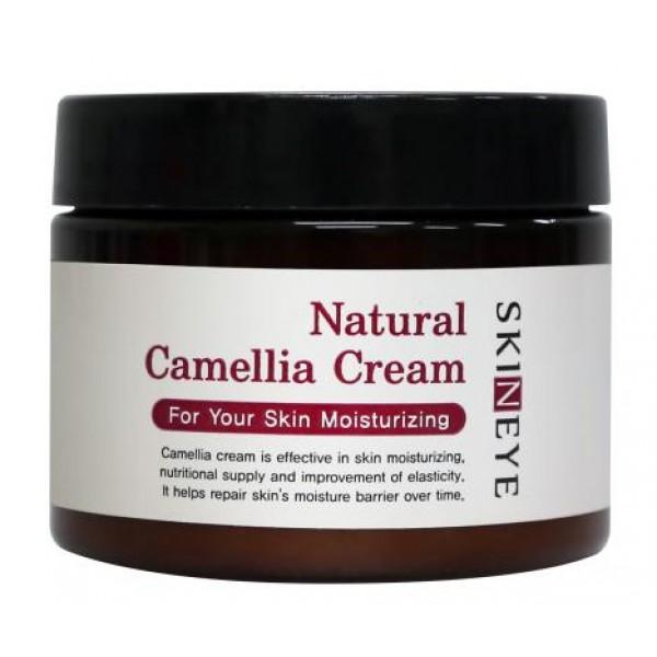 крем для лица skineye natural camellia creamNatural Camellia Cream.&amp;nbsp;Крем для лица<br><br>Линейка средств серии Natural Camellia по уходу за кожей содержит натуральный экстракт камелии и помогает бороться с первыми признаками усталости кожи.<br><br>Натуральные компоненты проникают глубоко в структуру клеток, запуская процессы их регенерации, стимулируют выработку природного эластина, в результате чего Вы получаете здоровую и ухоженную кожу.<br><br>Средство обладает легким лифтинг – эффектом, подтягивает и выравнивает рельефность кожи, скрывает мелкие недостатки, дарит коже мягкость и матовость в течение дня.<br><br>Продукт может использоваться не только в качестве основного крема под нанесение базового макияжа, но и для ухода в ночное время за сухими участками кожи. Не образует на поверхности кожного покрова блестящей пленки, дарит ощущение комфорта и свежести.<br><br>Экстракт камелии нежно питает, тонизирует и успокаивает кожу. Снимает воспаление и отечность тканей, интенсивно питает и восстанавливает водный баланс клеток.<br><br>Розовая вода в составе продукта активно увлажняет, тонизирует и успокаивает кожу, дарит коже бархатистость и ухоженность. Освежает и придает здоровый цвет коже, выравнивает тон кожи.<br><br>Способ применения: Нанесите несколько капель крема на очищенную кожу и распределите похлопывающими движениями.<br><br>Объём: 100 мл<br>