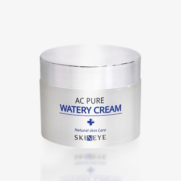 крем осветляющий и увлажняющий для лицаAc Pure Watery Cream. Крем осветляющий и увлажняющий для лица<br><br>Увлажняющий крем предназначен для ухода за сухой, обезвоженной и тусклой кожей, склонной к частым воспалениям и появлению пигментных пятен. Крем обеспечивает длительное увлажнение, успокаивает кожу, способствует регенерации после воспалительных процессов, осветляет пигментные пятна и постакне. Крем обладает легкой гелевой консистенцией и быстро впитывается. Подходит для всех типов кожи.<br><br>Активные компоненты крема: <br><br><br>Экстракт портулака тонизирует кожу.<br><br>Экстракт корня солодки успокаивает, снимает покраснения и раздражения.<br><br>Ниацинамид осветляет пигментные пятна и пятна постакне.<br><br>Экстракт алоэ и центеллы азиатской оказывают противовоспалительное и ранозаживляющее действие.<br><br><br>Применение: Используя шпатель, нанесите необходимое количество крема на кожу. Легкими движениями распределите до полного впитывания.<br><br>Меры предосторожности: Только для наружного применения. Избегайте попадания в глаза. Не используйте на поврежденной коже. При появлении следующих симптомов прекратите использование: раздражение, сыпь, покраснение, зуд.<br><br>Состав: Water, Glycerin, Dirpopylene glycol, Niacinamide, Sodium Acrylate/Sodium Acryloyldimethyl Taurate Copolymer, Isohexadecane, Cyclohexasiloxane, PEG-40 Hydrogenated Castor Oil, PPG-26-Buteth 26, Zanthoxylum Pipertum Fruit Extract, Pulsatilla Koreana Extract, Usnea Barbata (Lichen) Extract, Lavandula Angustifolia (Lavender) Oil, Adenosine, Disodium EDTA, Aloe Barbadensis Leaf Juice, Melaleuca Alternifolia (Tea Tree) Leaf Water, Btylene glycol, Salix Alba (Willow) Bark Extract, Lactobacillus/Soybean Ferment Filtrate, Portulaca Oleracea Extract, Origanum Vulgare Leaf Extract, Cinnamomum Cassia Bark Extract, Scutellaria Baicalensis Root Extract, Chamaecyparis Obtusa Leaf Extract, Glycyrrhixa Glabra (Licorice) root Extract, Rosa Canina Fruit Extract, Triticum Vulgare (Wheat) Seed Extract,