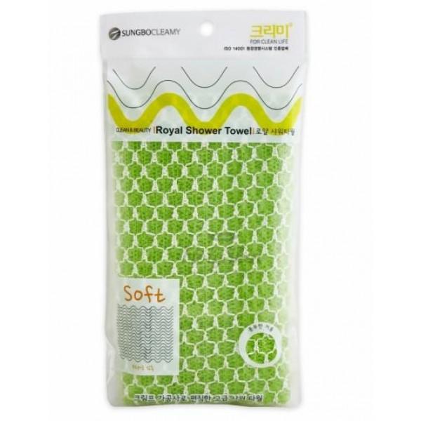 мочалка для душа sungbo cleamy royal shower towelRoyal Shower Towel. Мочалка для душа<br><br>По-настоящему королевская мочалка, выполненная из качественного нейлона, благодаря гофрированному полотну и особому способу вязки обладает достаточно шероховатой поверхностью, обеспечивающей самый деликатный массаж и эффективное очищение кожи не только от загрязнений, но и мертвых клеток.<br><br>Мочалка, имея среднюю степень жёсткости, при контакте с поверхностью кожи не повреждает и не царапает её, бережно отделяя ороговевшие, огрубевшие мертвые клетки. При этом стимулирует кровообращение в подкожных капиллярах, усиливает снабжение эпидермиса кислородом.<br><br>Мочалка, обладая особой структурой, обеспечивает быстрое вспенивание геля или любого другого подобного средства. При этом оно расходуется очень экономично, а если сложить мочалку в два раза, пены будет еще больше из того же количества средства. Можно массировать тело на любых участках, обеспечивая очищение, стимулируя ток крови.<br><br>Способ применения: Намочить мочалку, добавить геля, вспенить, можно для получения пены воспользоваться мылом. Пену нанести на тело, массирующими движениями распределить по телу. После массажа средство смыть. Мочалку после каждой процедуры очищения мыть и сушить.<br><br>Размер: 28 х 90 мм<br><br>Вес г: 10.00000000