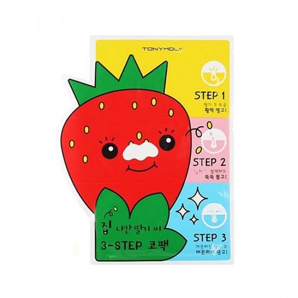 набор патчей для удаления черных точек tony moly homeless strawberry seeds 3-step nose packHomeless Strawberry Seeds 3-step Nose Pack. Набор патчей для удаления черных точек -&amp;nbsp;3-х ступенчатая маска от черных точек позволит вам глубоко и эффективно очистить поры на носу от черных точек. Сделав 3 шага, вы избавитесь от клубничного носа, кожа станет чистой и свежей, а поры менее заметными.<br><br>1 шаг:&amp;nbsp;патч-маска разогревающая - открывает поры для последующего легкого удаления черных точек.<br><br>Содержит в составе: экстракты гамамелиса, шалфея, мелиссы, лопуха, мяты, ягод можжевельника, зверобоя, малины, клубники, аниса, ромашки, лимона, бамбука и др.<br><br>2 шаг:&amp;nbsp;патч-полоска очищающая - механически очищает поры и абсорбирует кожный жир.<br><br>Содержит в составе: каолин, экстракты клубники, малины, лимона, лайма, масло семечек клубники и др.<br><br>3 шаг:&amp;nbsp;патч-маска успокаивающая - смягчает кожу и сужает поры, после удаления черных точек.<br><br>Содержит в составе: экстракты алоэ, камелии китайской, листьев чайного дерева, каштана, полыни, клубники, малины, розы, аниса и др.<br><br>Применение:&amp;nbsp;&amp;nbsp;Используйте все 3 патча один за другим за одну процедуру.<br><br><br>Нанести патч №1 на сухую чистую кожу, оставить на 15-20 мин, снять.<br><br>Намочить нос водой, приклеить патч №2 (предварительно удалив прозрачную пленку) и оставить на 10-15 мин., удалить патч аккуратно потянув с края к середине носа.<br><br>Нанести патч №3 на 5-10 минут, снять и аккуратно вбить оставшееся средство пальцами в кожу до полного впитывания.<br><br><br>Объем: 6 гр в наборе 3 патча.<br><br>Вес г: 6.00000000