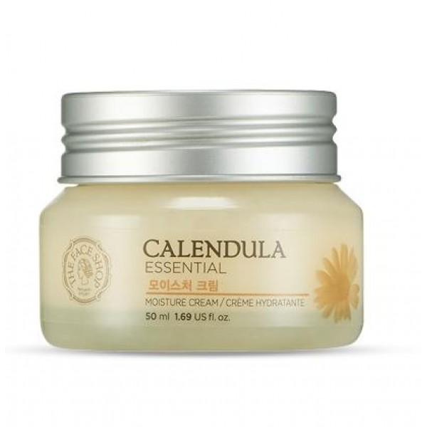 крем увлажняющий с календулой the face shop calendula essential moisture creamCalendula Essential Moisture Cream. Крем увлажняющий с календулой<br><br>Серия Calendula создана для интенсивного питания и увлажнения кожи. Сложная формула с растительными ингредиентами быстро наполняет кожу влагой и поддерживает водный баланс, сохраняет кожу нежной и упругой в течении дня.<br><br>Благодаря экстракту календулы серия регулирует секрецию себума, уменьшает появление шрамов от угревой сыпи, сужает поры, укрепляет структуру кожной ткани. Серия подходит для всех типов кожи, особенно рекомендована сухой коже, коже с угревой сыпью и чувствительной коже.<br><br>Крем для лица с экстрактом календулы имеет легкую консистенцию, быстро впитывается, не оставляя после себя липкости и жирности. Средство интенсивно увлажняет и питает кожу, смягчает её, успокаивает раздражения и убирает красноту, регулирует салоотделение и сужает поры, уменьшает шрамы от угревой сыпи, повышает эластичность кожи.<br><br>Мягкая, смягчающая и успокаивающая формула с растительными ингредиентами быстро увлажняем кожу, сохраняя влагу в течении всего дня!<br><br>В основу крема для лица входят:<br><br><br>экстракт календулы, алоэ, аллантоин - успокаивающее и противовоспалительное действие, ускоряют процесс регенерации клеток кожи;<br><br>масло камелии, масло ши, гиалуроновая кислота - глубокое увлажнение, повышают эластичность кожи.<br><br><br>Особенности продукта:<br><br><br>успокаивает легко раздражаемую кожу;<br><br>защищает слабую, чувствительную кожу от повреждений;<br><br>укрепление функции влагосбережения кожи (Чувствительная кожа часто имеет слабый защитный барьер, таким образом легко теряет влагу и необходимые питательные вещества);<br><br>смягчает и восстанавливает кожу.<br><br><br>Способ применения:&amp;nbsp;Нанесите крем на очищенную увлажненную тонером кожу лица легкими массирующими движениями, избегая области вокруг глаз.<br><br>Объем:&amp;nbsp;50 мл<br>
