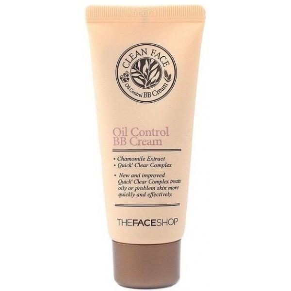 крем бб для проблемной кожи the face shop clean face oil control bb creamУникальный BB крем придаст сияющий и ухоженный вид даже самой капризной жирной коже. Средство отлично поможет при усталости, придаст кожным покровам матовость и бархатистость, подарит здоровое сияние.<br><br>Clean Face Oil Control BB Cream содержит инновационный комплекс природных ингредиентов:<br><br><br>Экстракт лекарственной ромашки успокаивает кожу, насыщает ее влагой и питательными веществами, снимает воспаления, восстанавливает клетки, осветляет пигментацию, лечит угревую сыпь и улучшает цвет лица.<br><br>Листья лимонного мирта интенсивно питают кожу, насыщая ее витаминами, выравнивают текстуру и тон, повышают иммунные функции, борются с воспалениями, оберегают от внешних воздействий.<br><br>Черноголовка нормализует обмен веществ, снимает воспаления, уменьшает отечность, разглаживает кожу, придает ей мягкость.<br><br><br>Эти компоненты расслабляют и смягчают кожу, подтягивают контуры лица и позволяет надолго сохранить макияж в идеальном виде.<br><br>BB крем эффективно маскирует все несовершенства, выравнивает оттенок кожи, придает ей внутреннее сияние, образует невесомое покрытие с эффектом фотошопа.<br><br>Крем обладает легкой текстурой и хорошо растушевывается, помогает справиться с избыточным выделением кожного сала.<br><br>После нанесения Clean Face Oil Control BB Cream не возникает ощущения сухости. Крем не забивает поры и не вызывает раздражений.<br><br>В нем нет минеральных масел, которые способны навредить красоте и здоровью кожи.<br><br>При постоянном применении BB крем от The Face Shop позволяет предотвратить появление нежелательной пигментации, мгновенно подстраивается под цвет кожи и выглядит естественно.<br><br>Способ применения: выдавить крем на ладони, растереть и нанести на лицо – под воздействием тепла он станет более эластичным и податливым.<br><br>Объем: 35 мл<br>